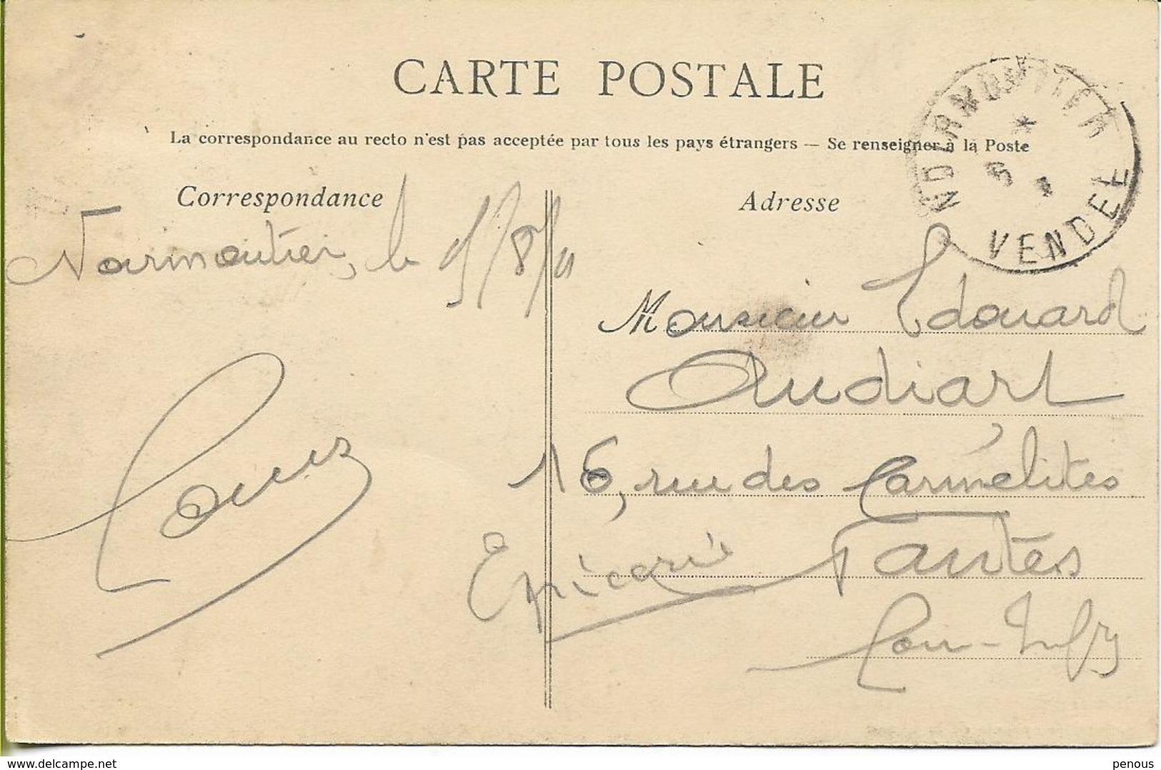 NOIRMOUTIER  Arrivée Au Bois De La Chaise (belle Animation, Attelage...) - Noirmoutier