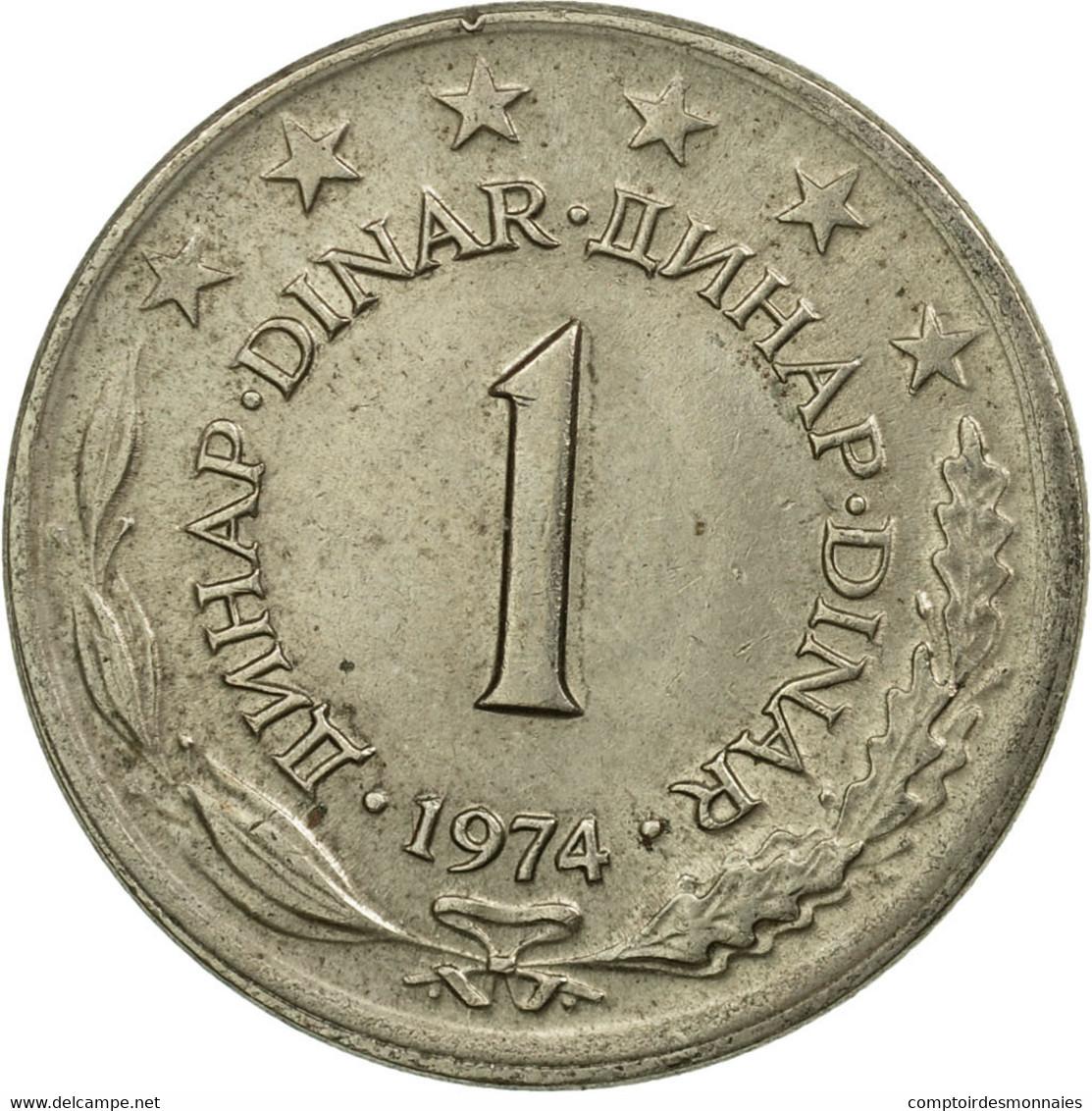 Monnaie, Yougoslavie, Dinar, 1974, TB+, Copper-Nickel-Zinc, KM:59 - Joegoslavië