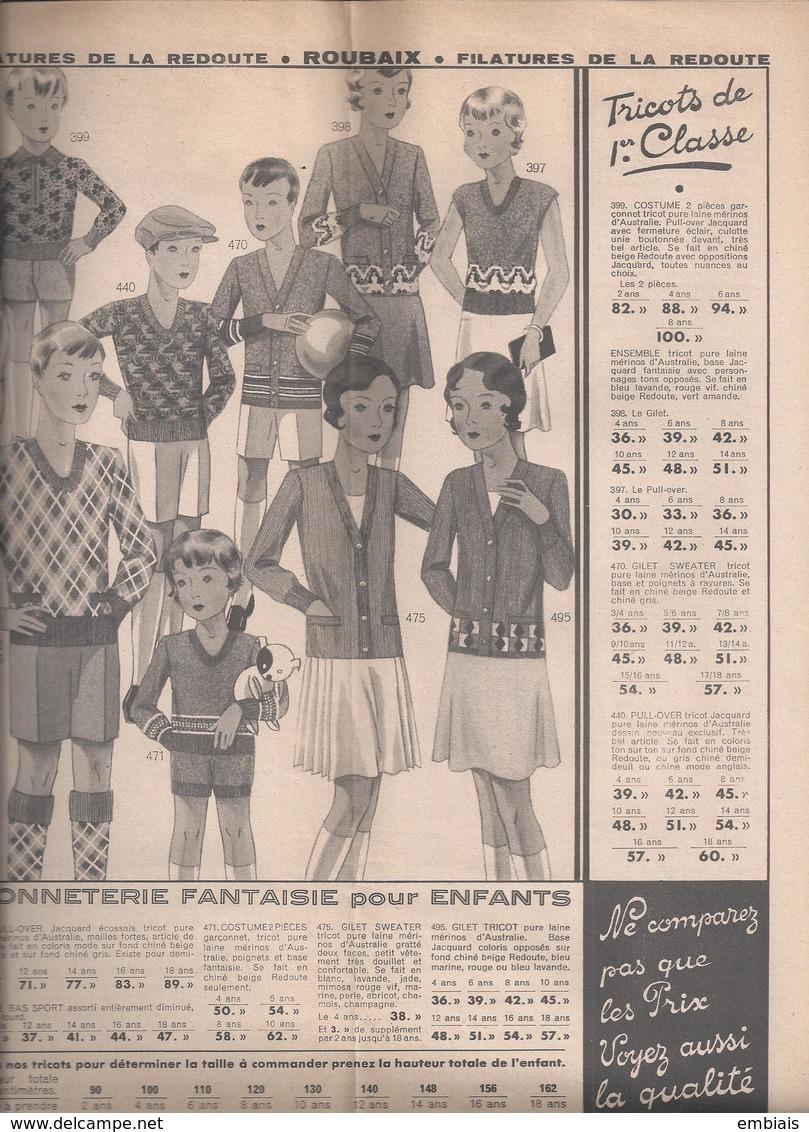 59 -ROUBAIX- Filature De La Redoute .Catalogue ETE 1932.Un Grand Magasin Dans Une Grande Usine. - Publicités