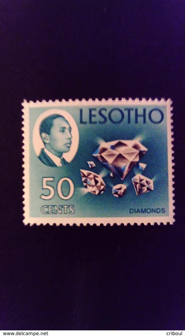Lesotho 1967 Diamant Diamond Bijou Jewel Yvert 140 ** MNH Sans Filigrane Without Watermark - Lesotho (1966-...)