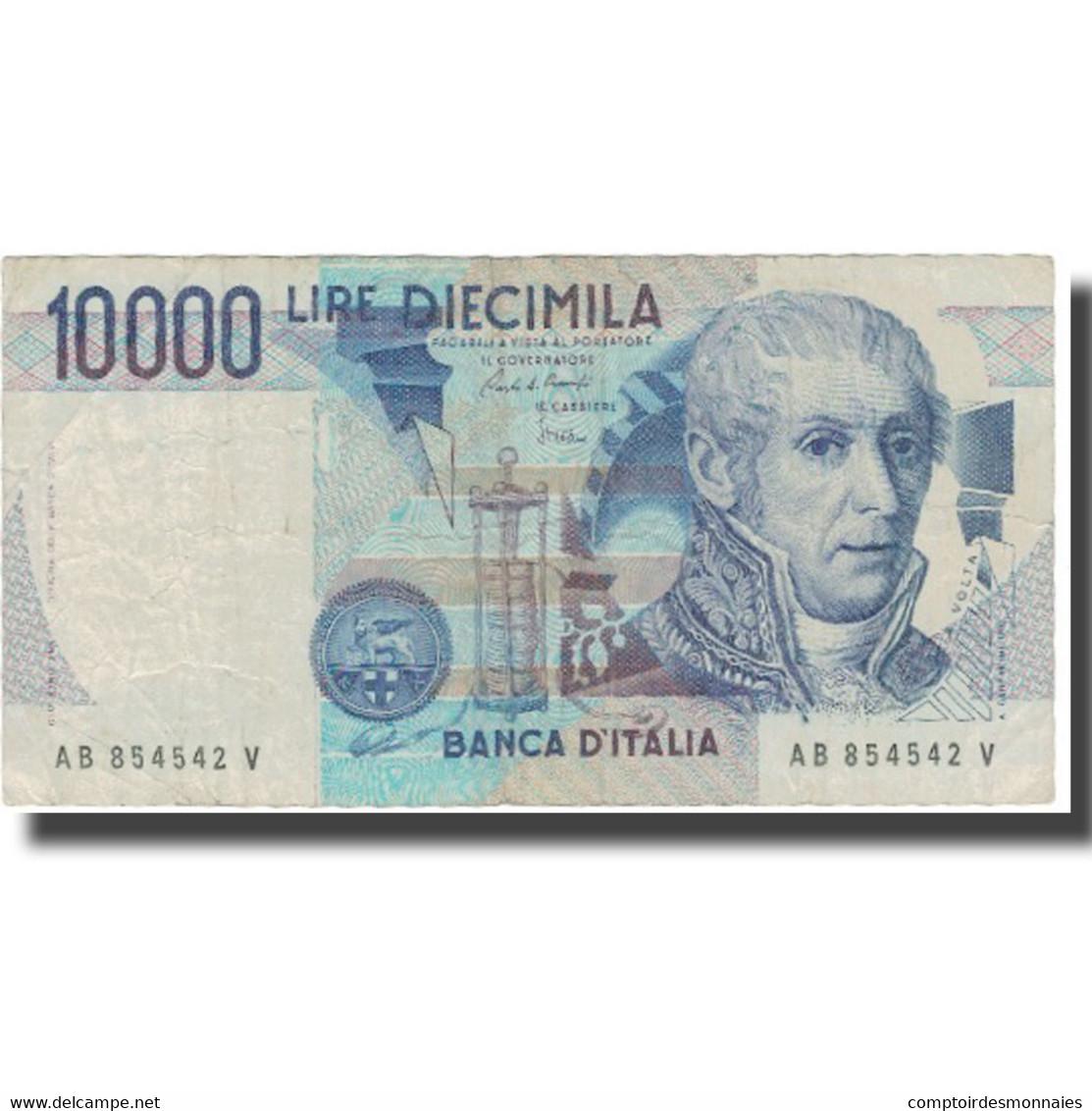 Billet, Italie, 10,000 Lire, UNDATED (1984), KM:112a, TB+ - [ 2] 1946-… : République