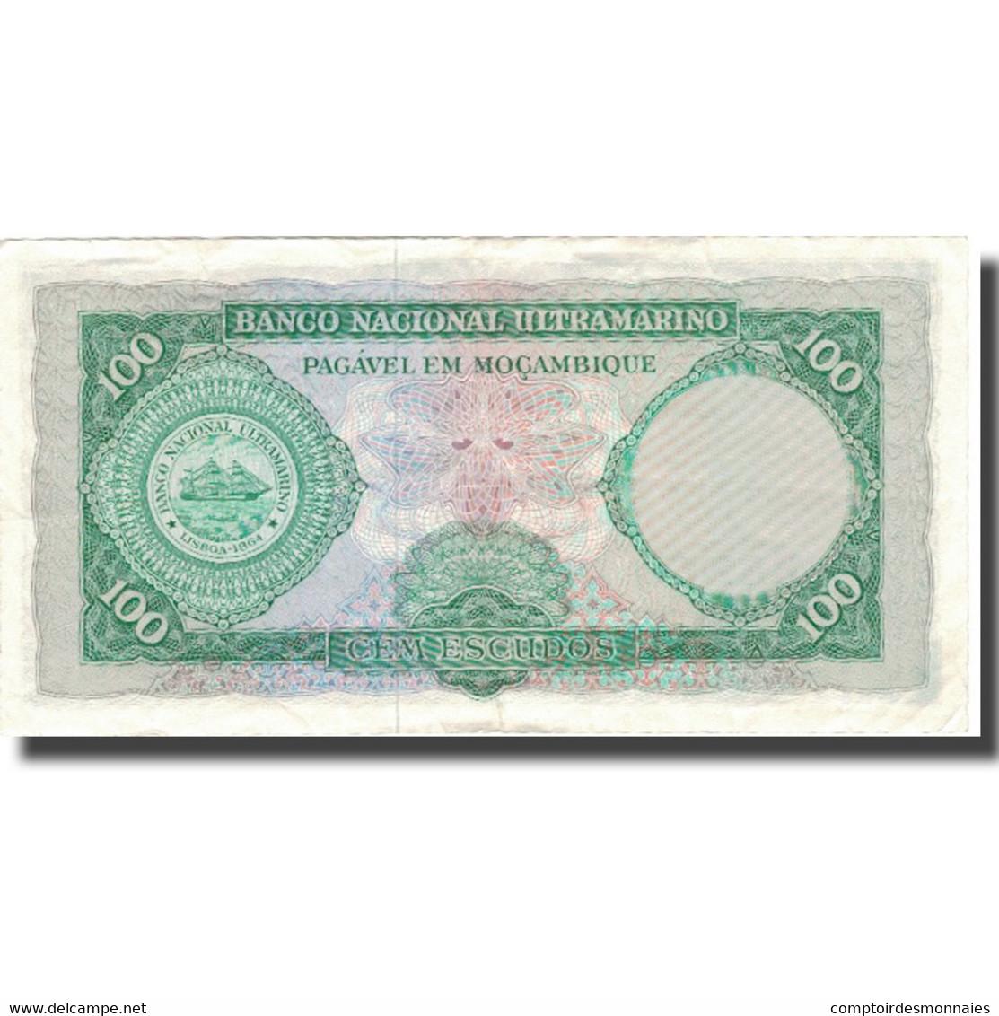 Billet, Mozambique, 100 Escudos, 1961, 1961-03-27, KM:117a, TB - Mozambique