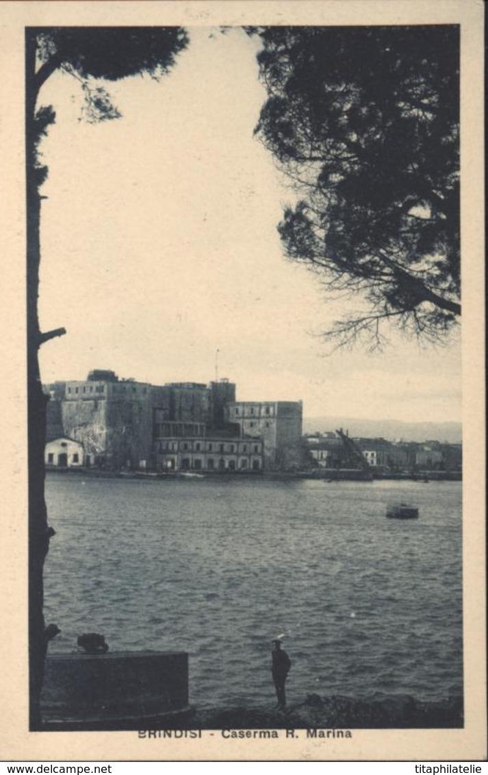 CP Cartolina Postale Brindisi Caserma R Marina - Brindisi