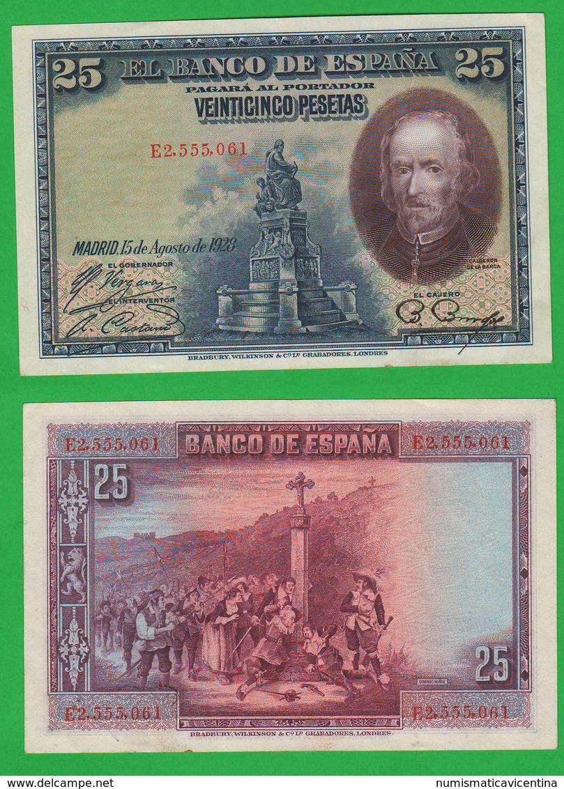Spagna 25 Pesetas 1928 Spain Calderon De La Barca - [ 2] 1931-1936 : Repubblica