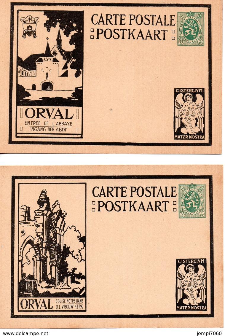 ORVAL : Lot De 10 Cartes Postales Affranchies Avec Lion Héraldique De 35c. (voir Scans) - Entiers Postaux