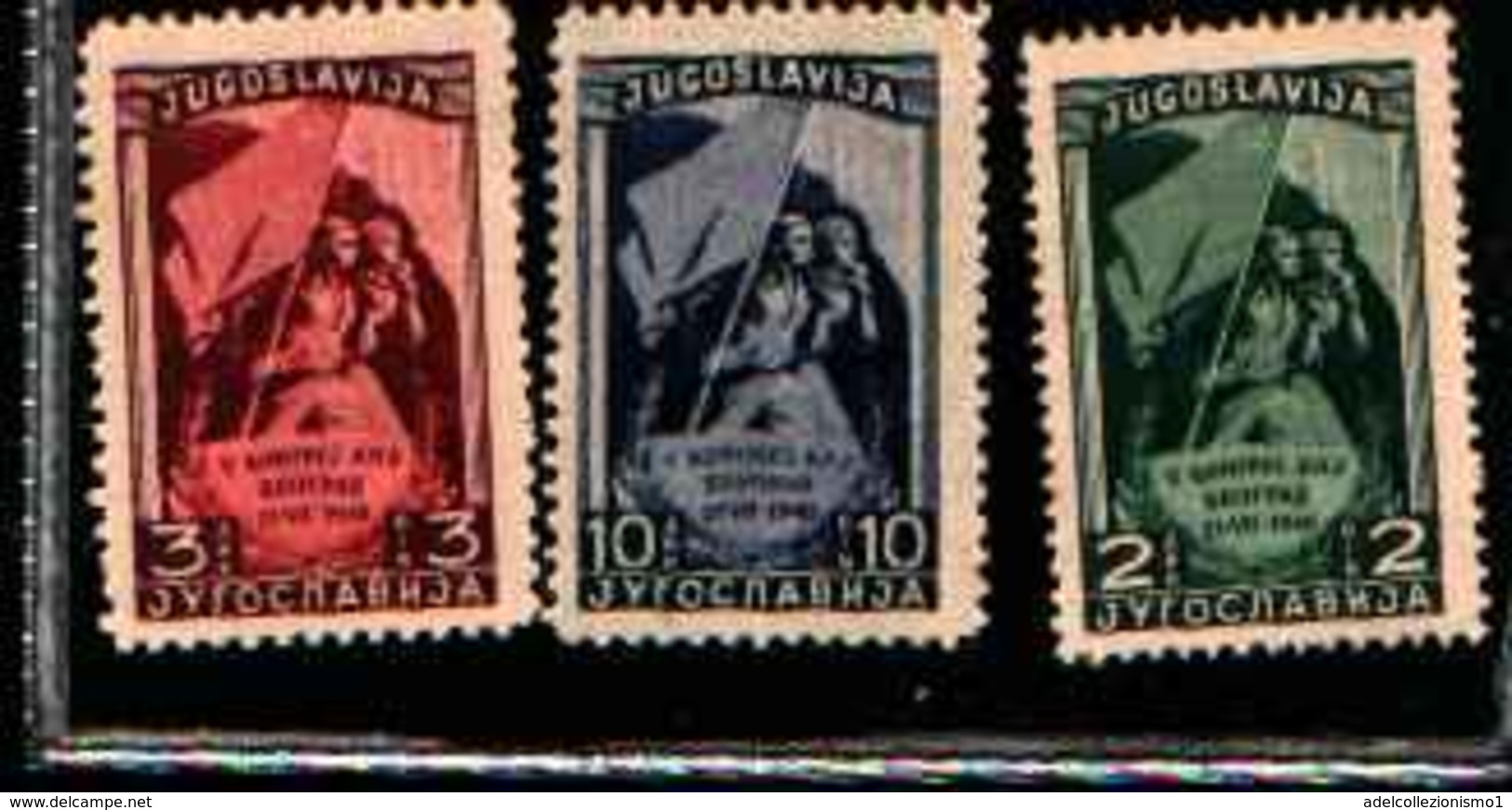 73248) Yugoslavia - Correo 1948 Yvert 489/91-  MNH** - 1945-1992 Repubblica Socialista Federale Di Jugoslavia