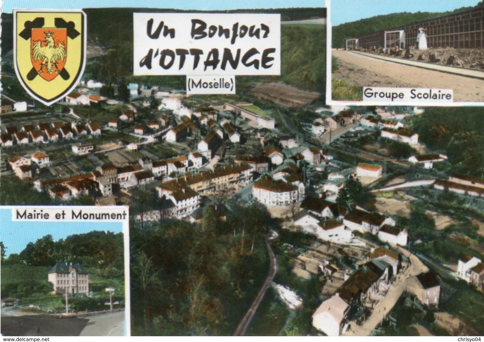 86Dm  57 Ottange Vue Generale Aerienne - Francia