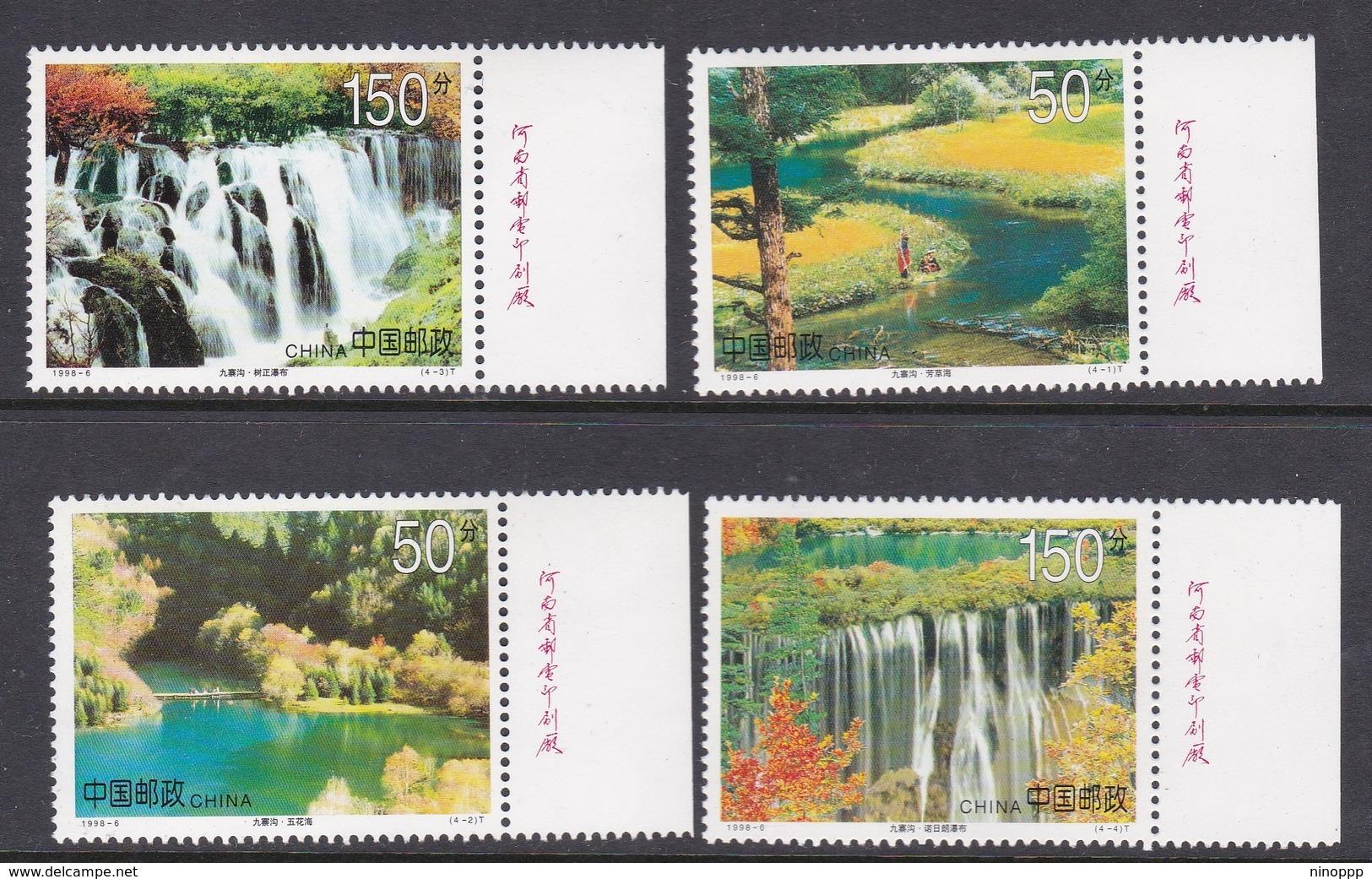 China People's Republic SG 4276-4279 1998 Nine-Village Valley, Mint Never Hinged - 1949 - ... République Populaire