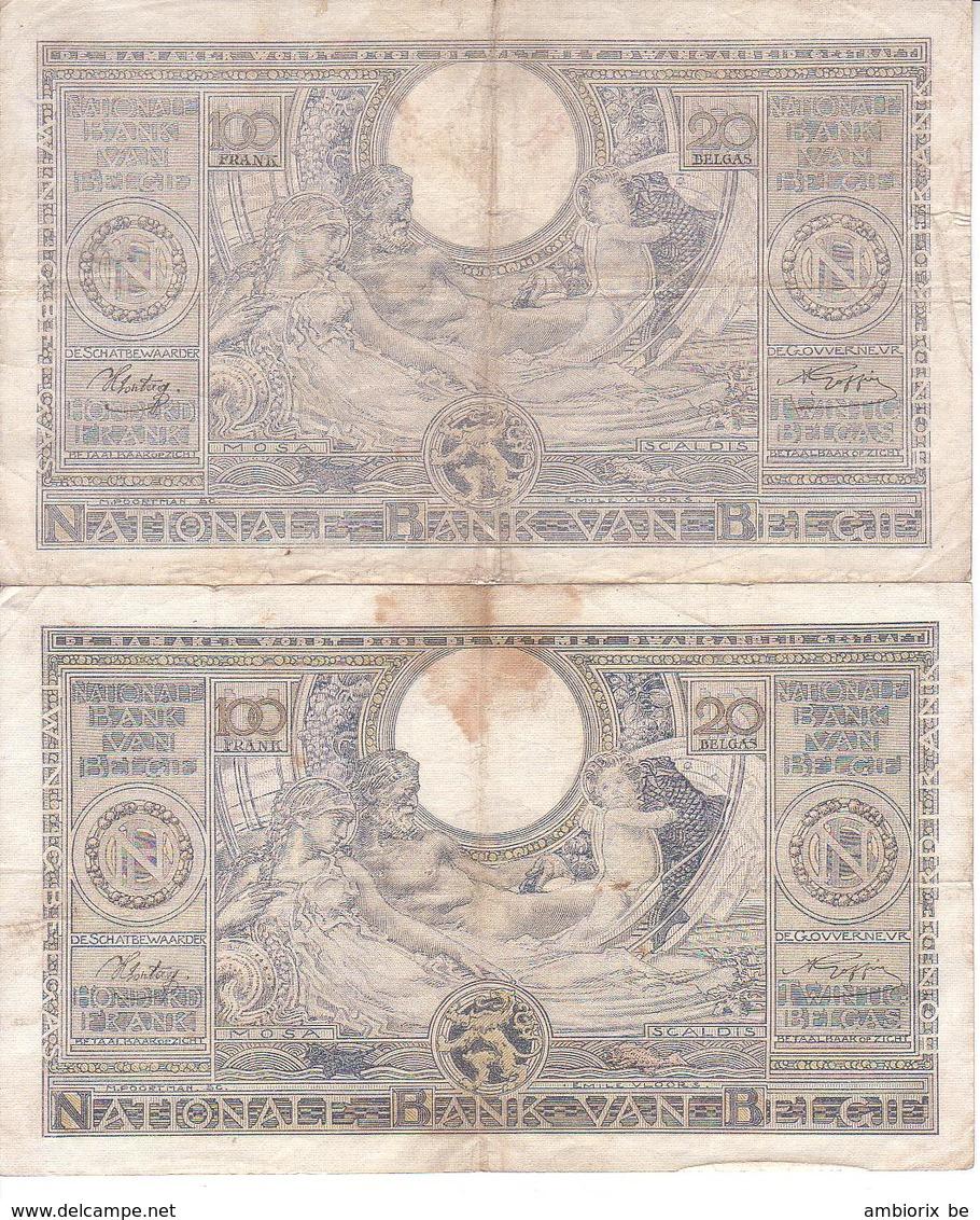 Lot De 2 Billet 60 D - 22.08.41 Et 26.06.42 - 100 Franchi & 100 Franchi-20 Belgas