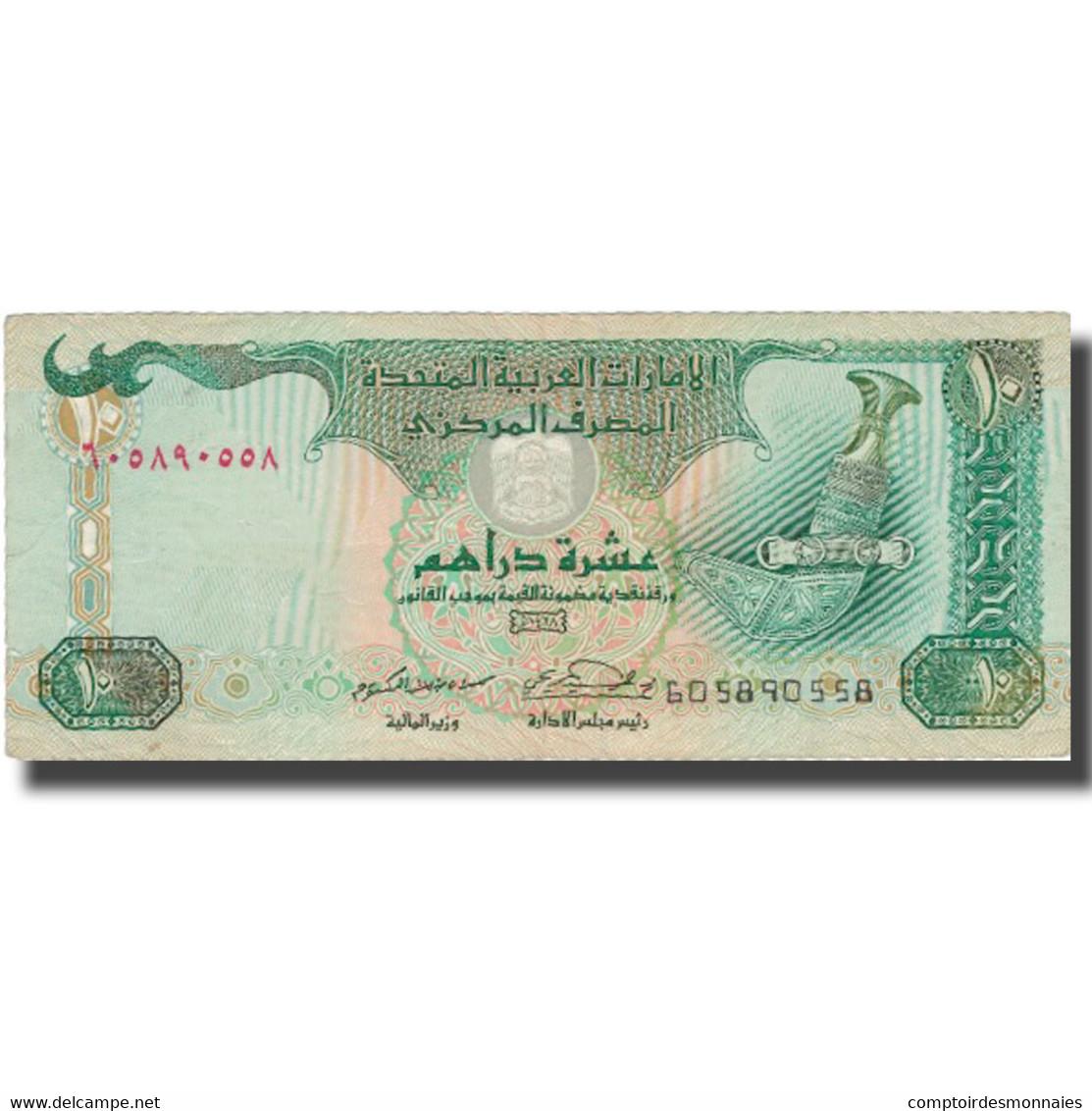 Billet, United Arab Emirates, 10 Dirhams, 2001, 2001, KM:20a, TTB - Emirats Arabes Unis