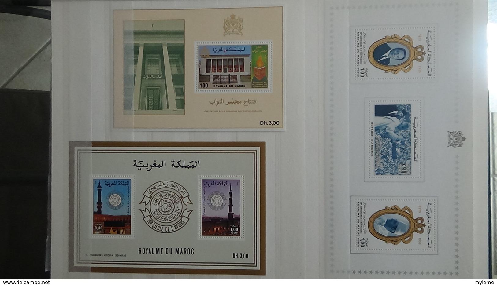 Belle Collection De Blocs ** Du Royaume Du Maroc . A Saisir !!! - Timbres