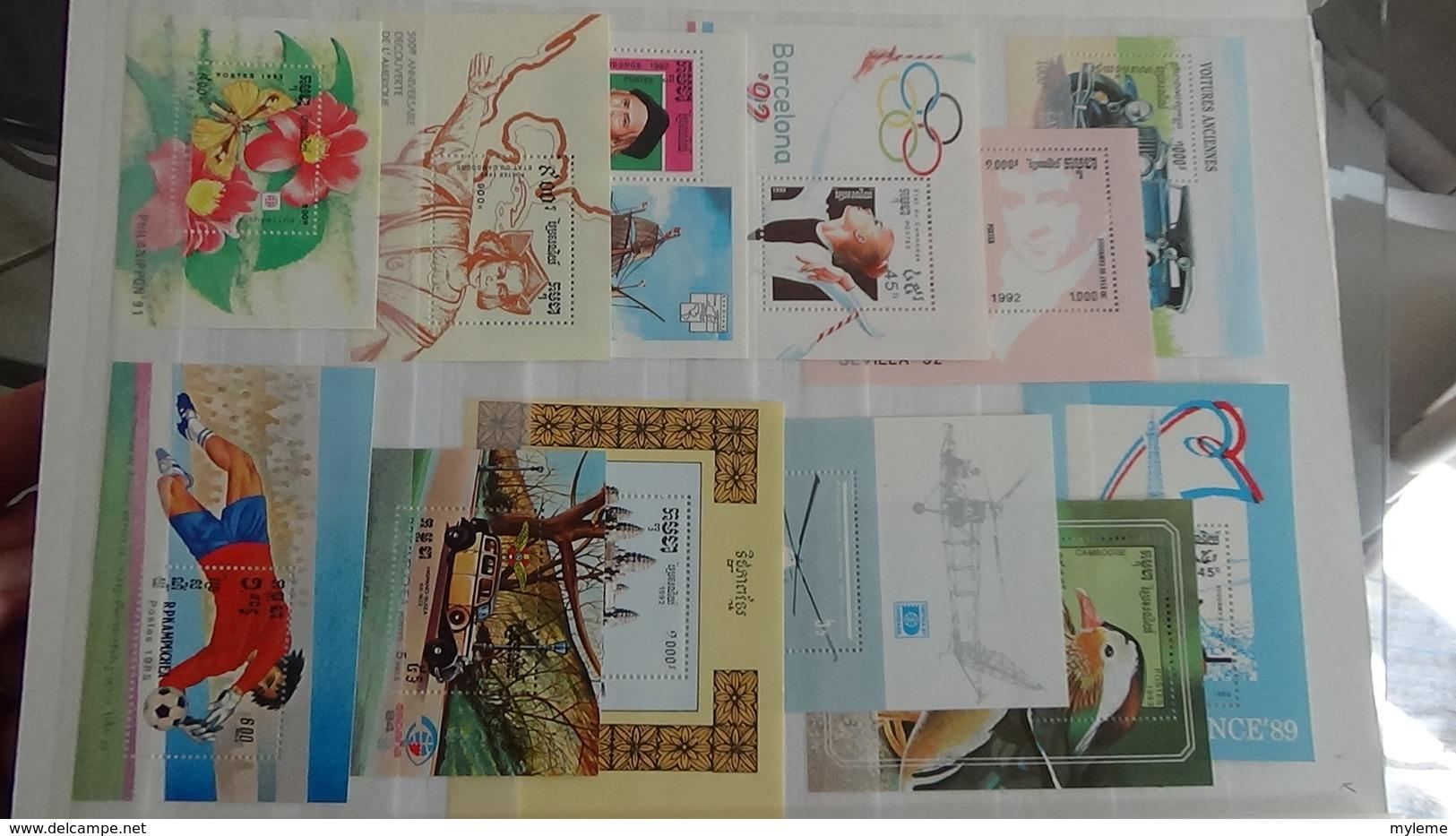 Album De 125 Blocs ** Du Monde. Côte Sympa A Saisir !!! - Timbres