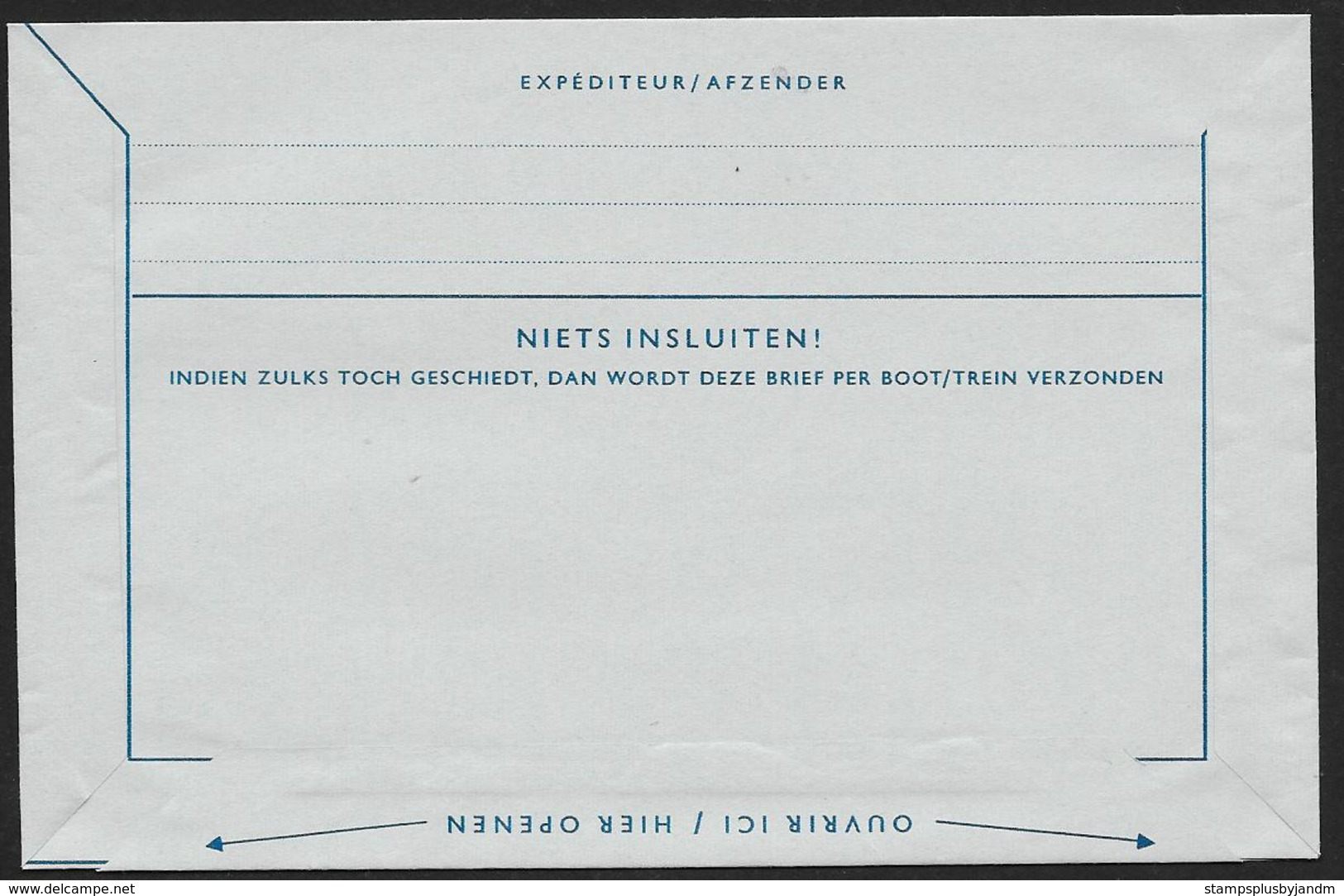 NETHERLANDS Aerogramme 30c Queen 1961 The Hague Cancel! STK#X21238 - Postal Stationery