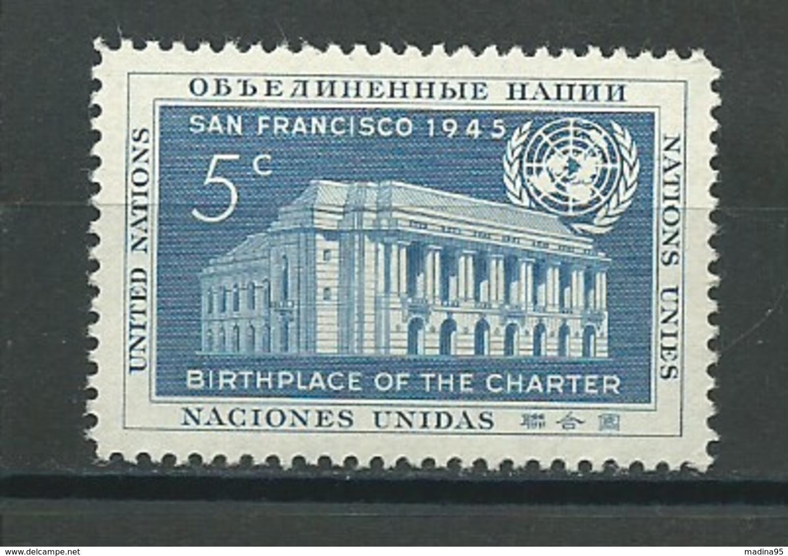 NATIONS UNIES (NEW-YORK): **, N°YT 12, TB - New York -  VN Hauptquartier