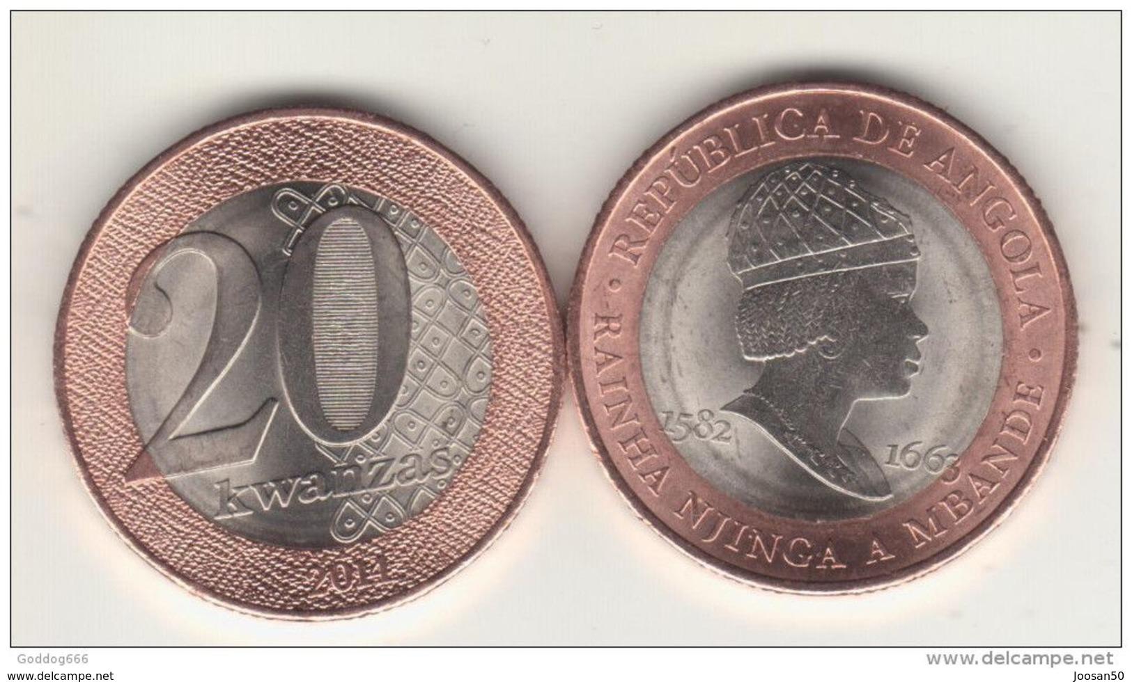 ANGOLA 20 Kwanzas 2015  UNC - Angola
