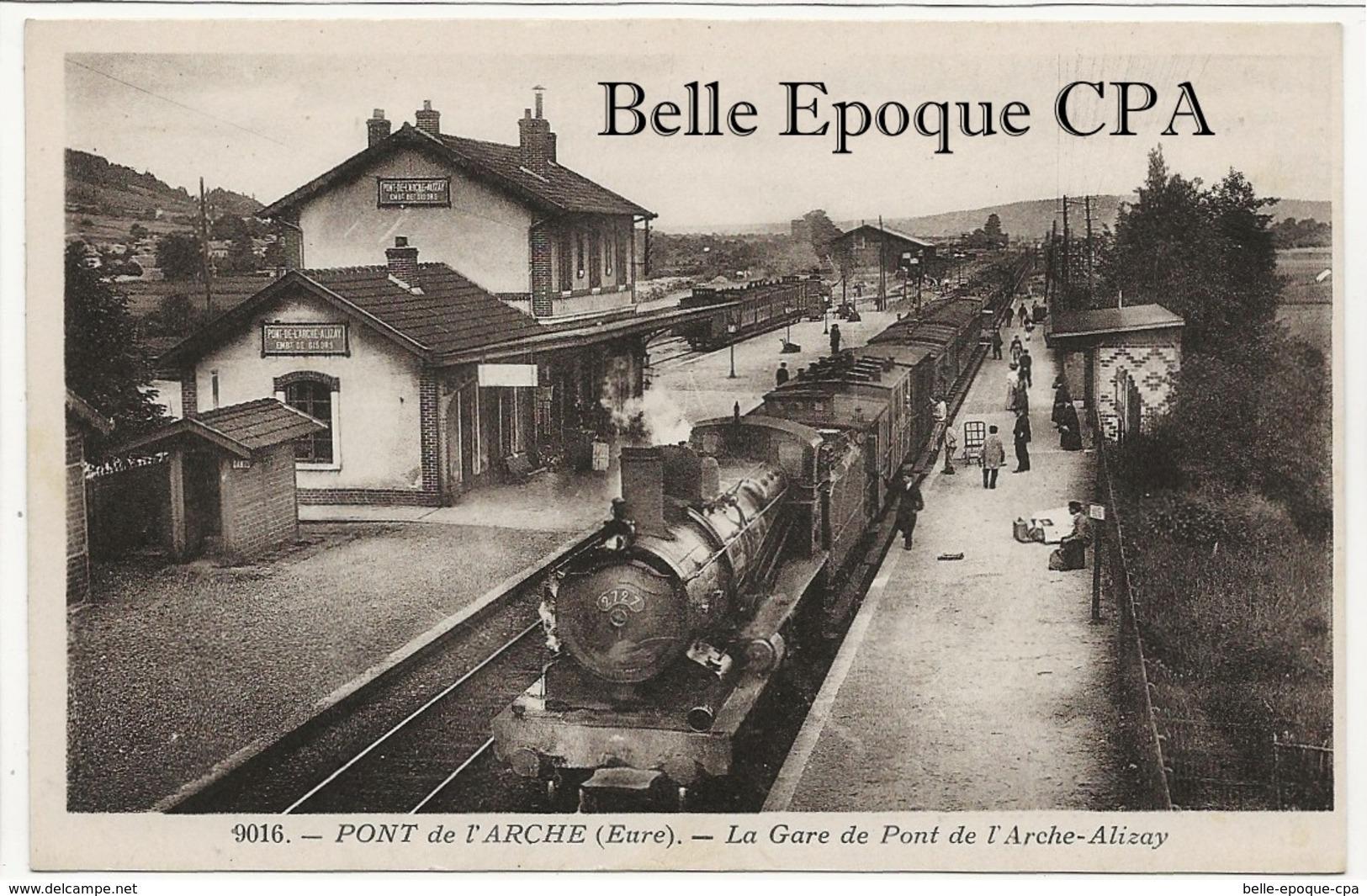 27 - PONT-de-l'ARCHE - La Gare De Pont De L'Arche-Alizay +++++ E. S., Paris +++++ LOCOMOTIVE - Pont-de-l'Arche