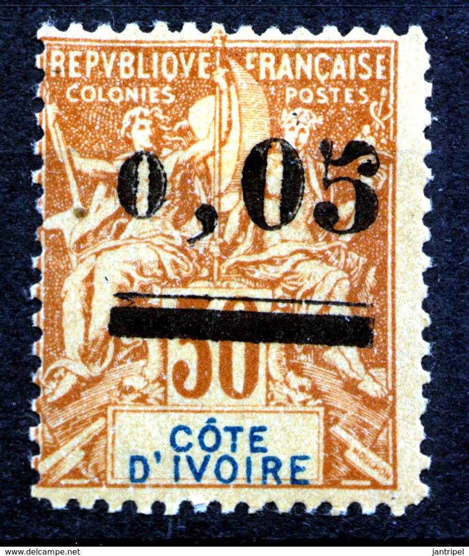 IVORY COAST  1904 0,05 On  30 C  MH  A FALSIFICATION!!!!!!!!!!!!!!! - Côte-d'Ivoire (1892-1944)