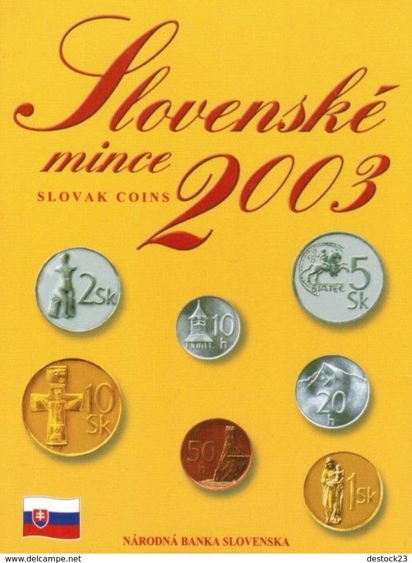 Neuf Rare Coffret Série 8 Pièces Officiel Slovaquie 2003 Couronne Édité À 40 000 Exemplaires Seulement Pro Neuf ! - Slovaquie