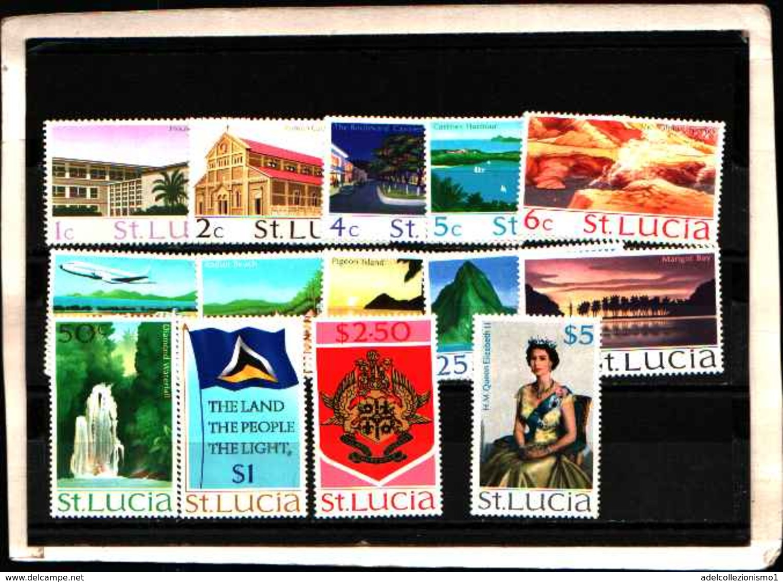 73284)  SANTA LUCIA-LOTTO FRANCOBOLLI -MNH**-1970-SERIE CORRENTE-N.259-72 - St.Lucia (1979-...)