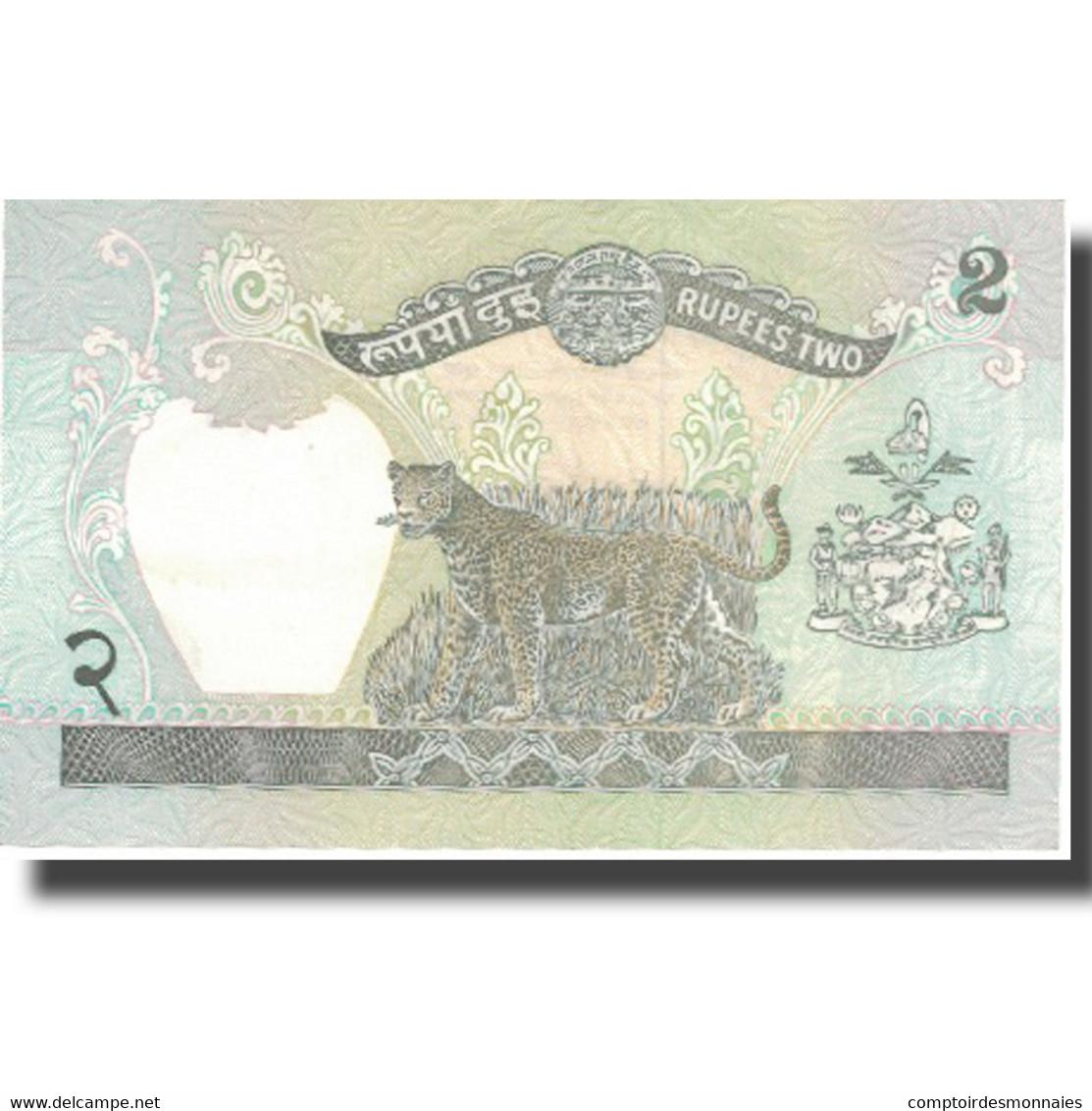 Billet, Népal, 2 Rupees, KM:29b, SUP - Nepal