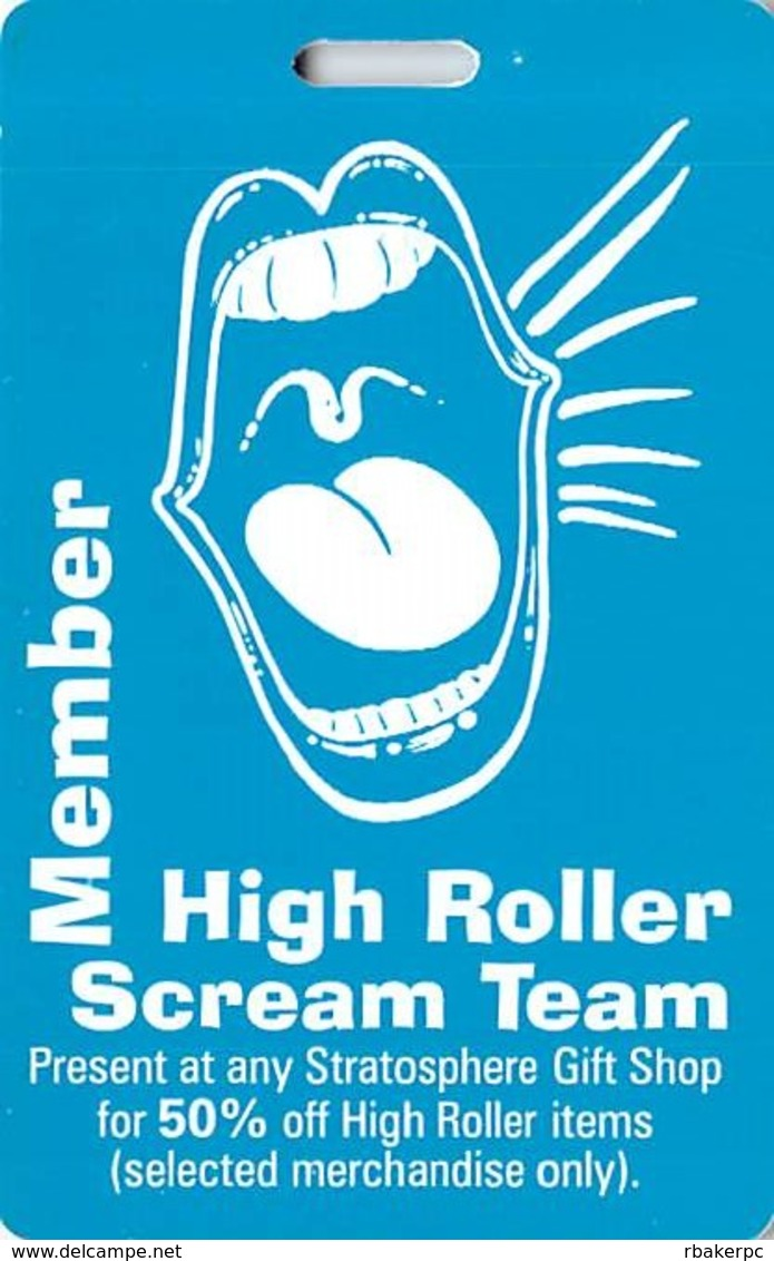 Stratosphere Casino - Las Vegas, NV - Scream Team Discount Card - Casino Cards