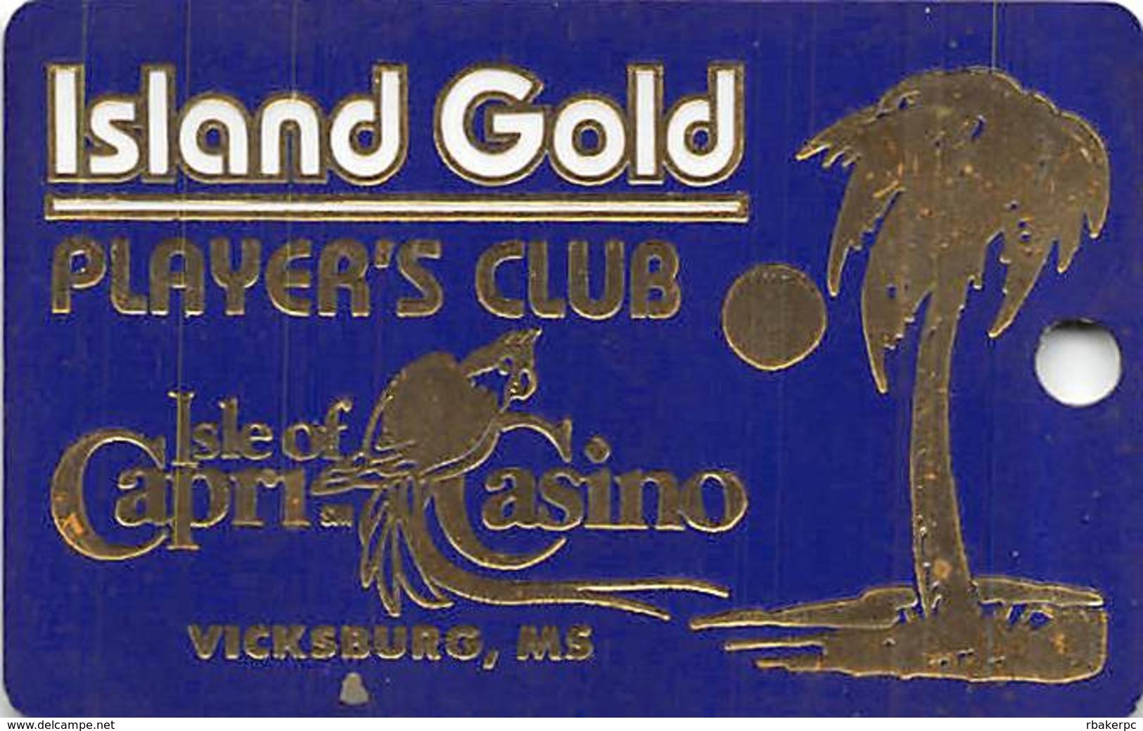 Isle Of Capri Casino - Vicksburg, MS - Luggage Tag / Dangle - Casino Cards