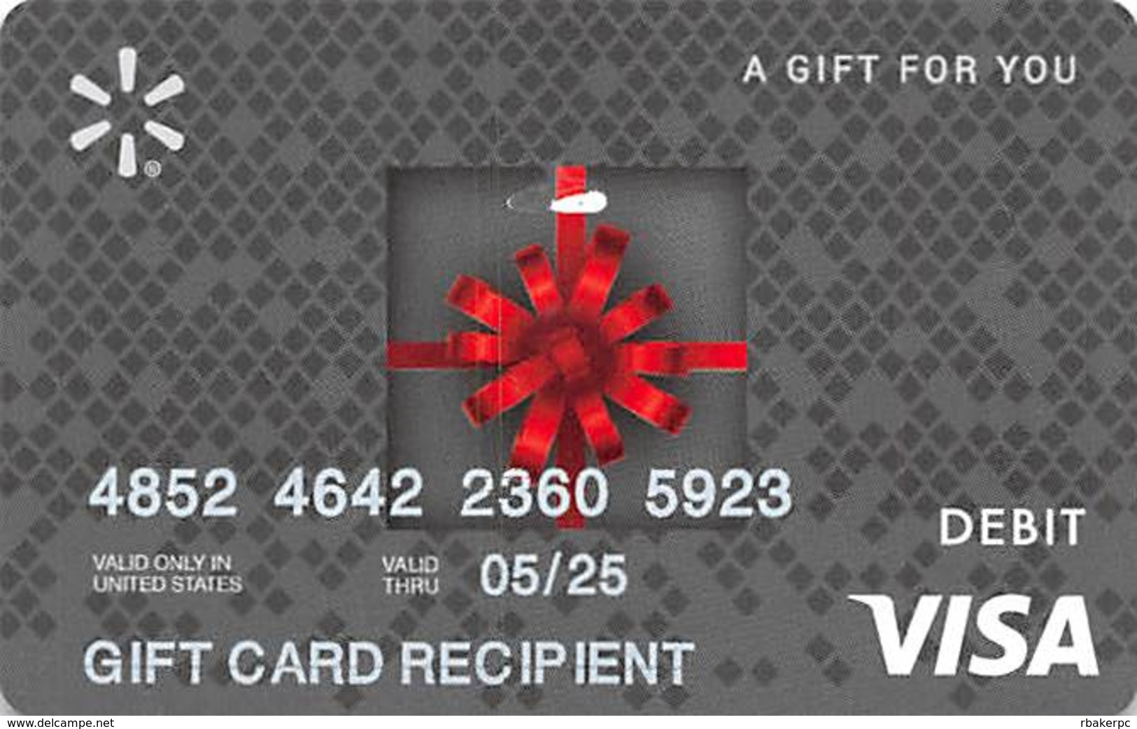 Used / No Value VISA Gift Card - Gift Cards