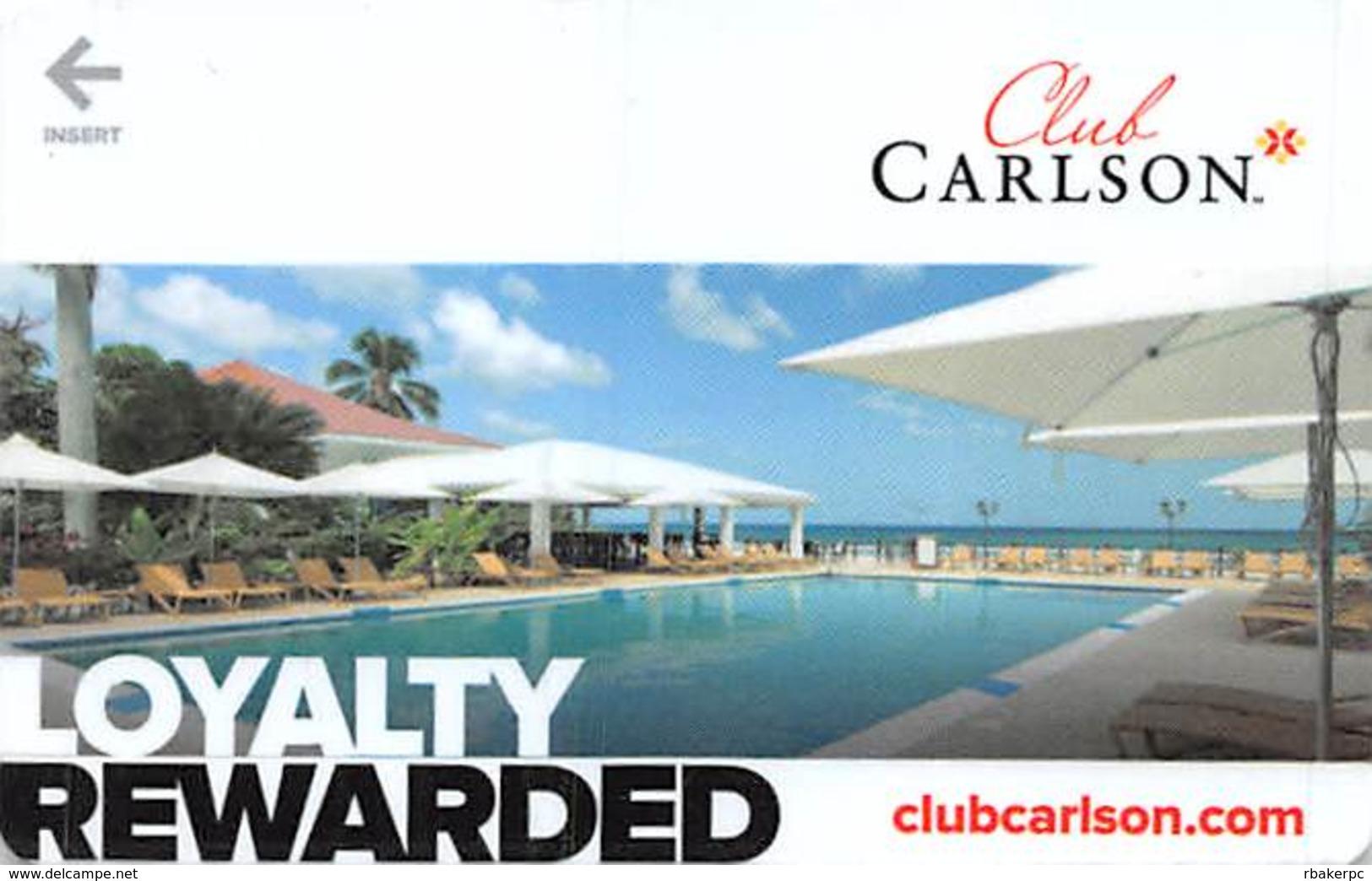Club Carlson Loyalty Rewarded Hotel Room Key Card - Hotel Keycards