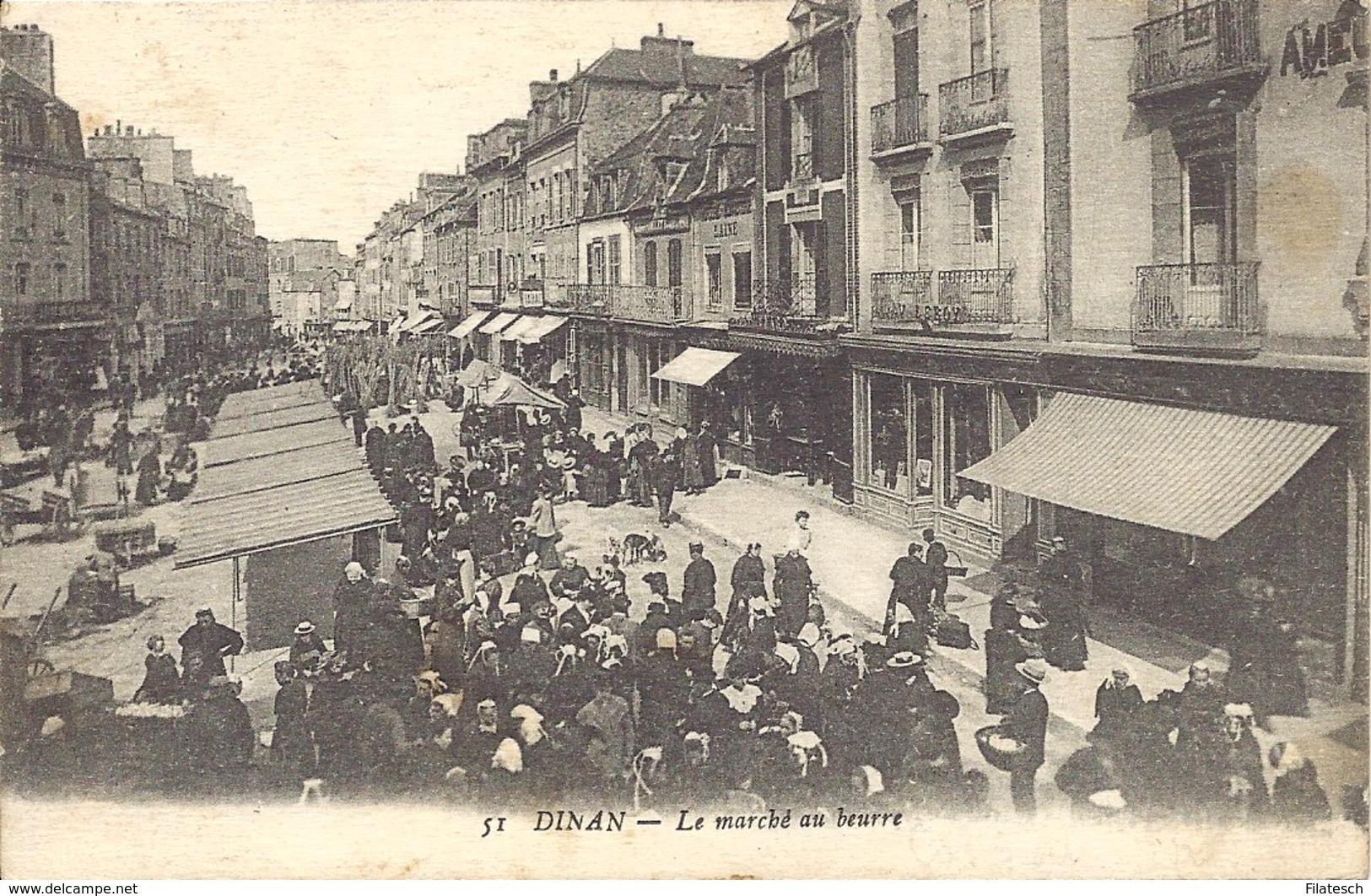 Dinan, Le Marche Au Beurre - Dinan