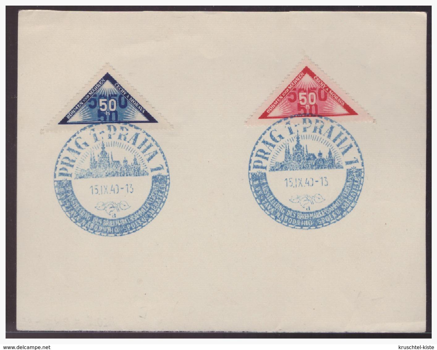 Böhmen & Mähren (004097) Briefstück Mit Sonderstempel 33 Prag Vom 15.9.1940 - Böhmen Und Mähren