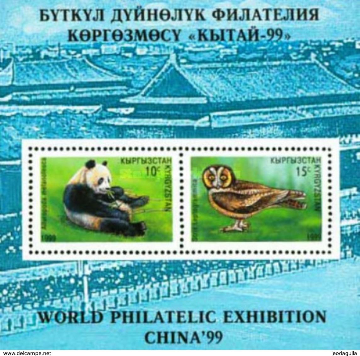 KYRGYZSTAN  Nº131 -  Panda Bear - Owl  - Eule  - 1999  - MNH - Kyrgyzstan