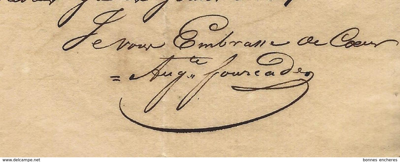 1831 LETTRE COMMERCE NEGOCE PEAUX PEAUSSERIE  FOURCADE FRERES Bayonne Et St Marie D'Oloron VOIR SCANS+HISTORIQUE - Frankrijk
