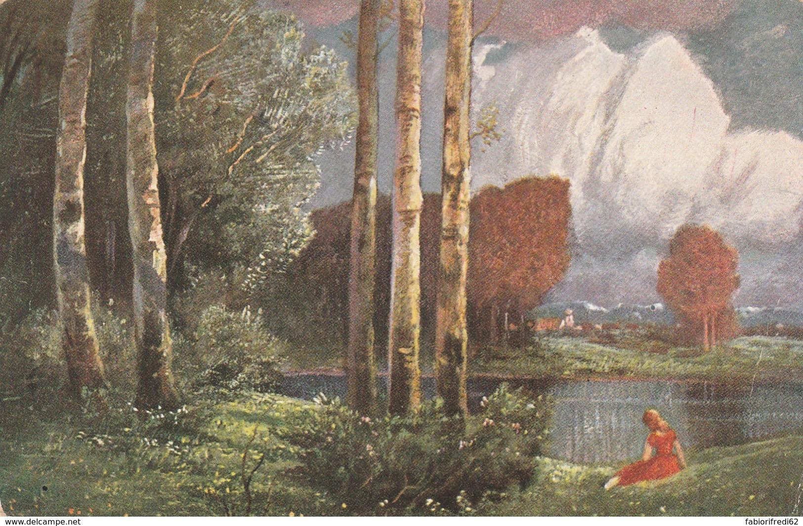 CARTOLINA VIAGGIATA 1913 ILLUSTRATORE NON FIRMATA (LX181 - Illustratori & Fotografie