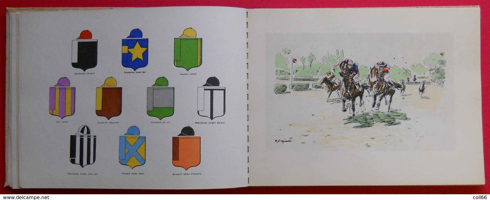 1936 Le Livre D'or Du Gala Des Courses Casaques Colorisées Illustrations Malespina PUB Renault Latécoère Air France Etc. - Livres, BD, Revues
