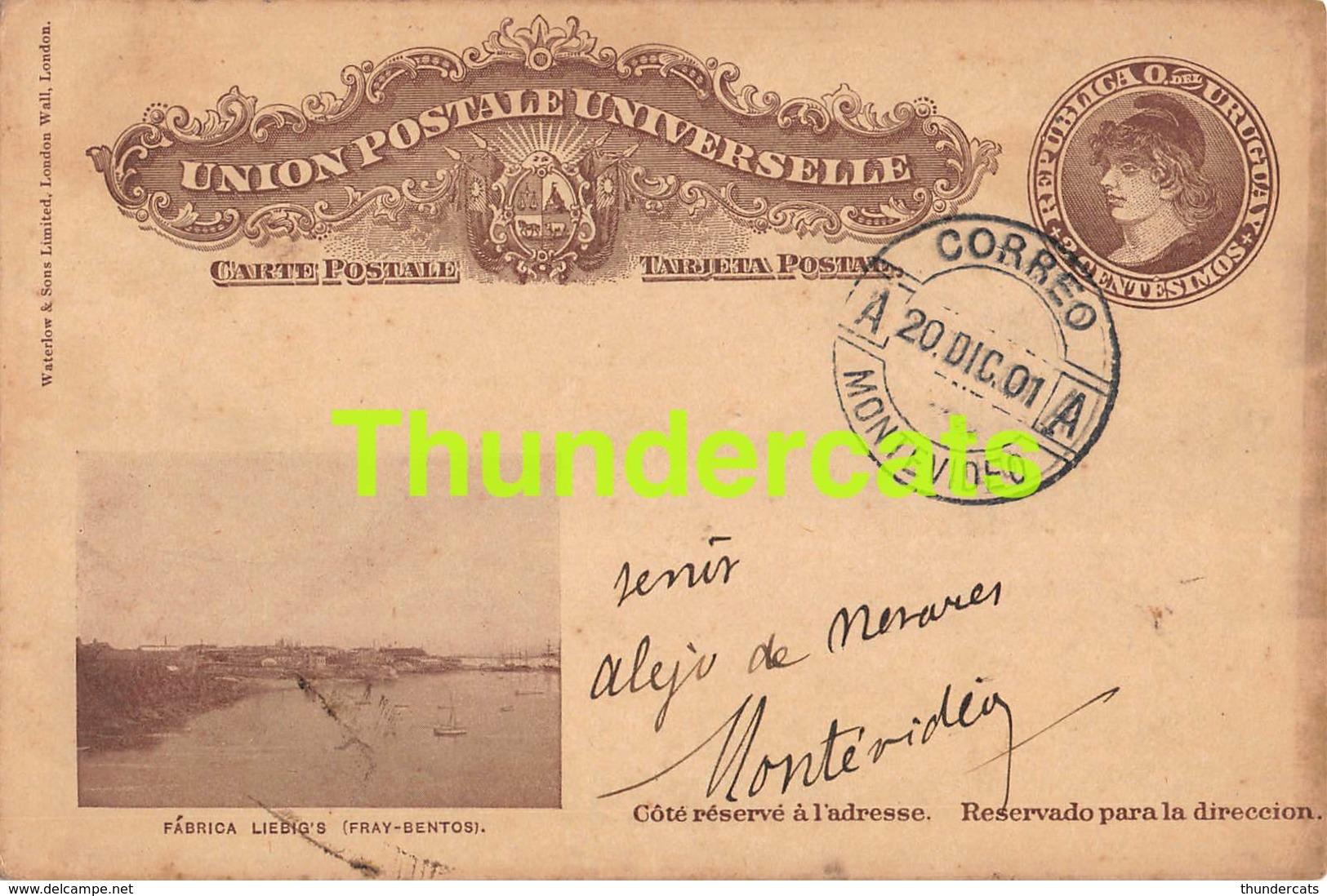 CPA  1901 PUB PUBLICITE URUGUAY FABRICA USINE LIEBIG LIEBIG'S FRAY BENTONS - Uruguay
