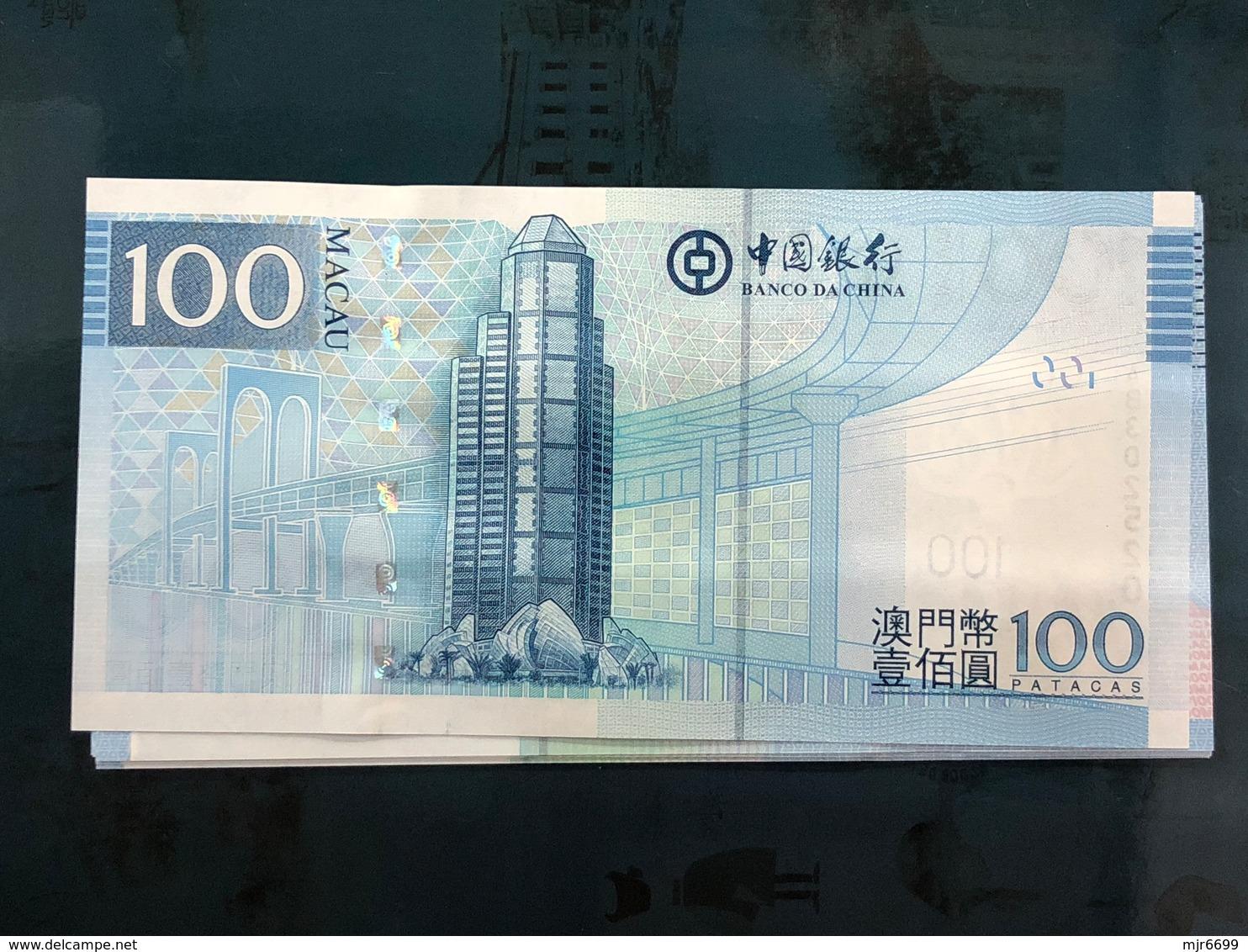 BANK OF CHINA 2008 100 PATACAS UNC. - Macao