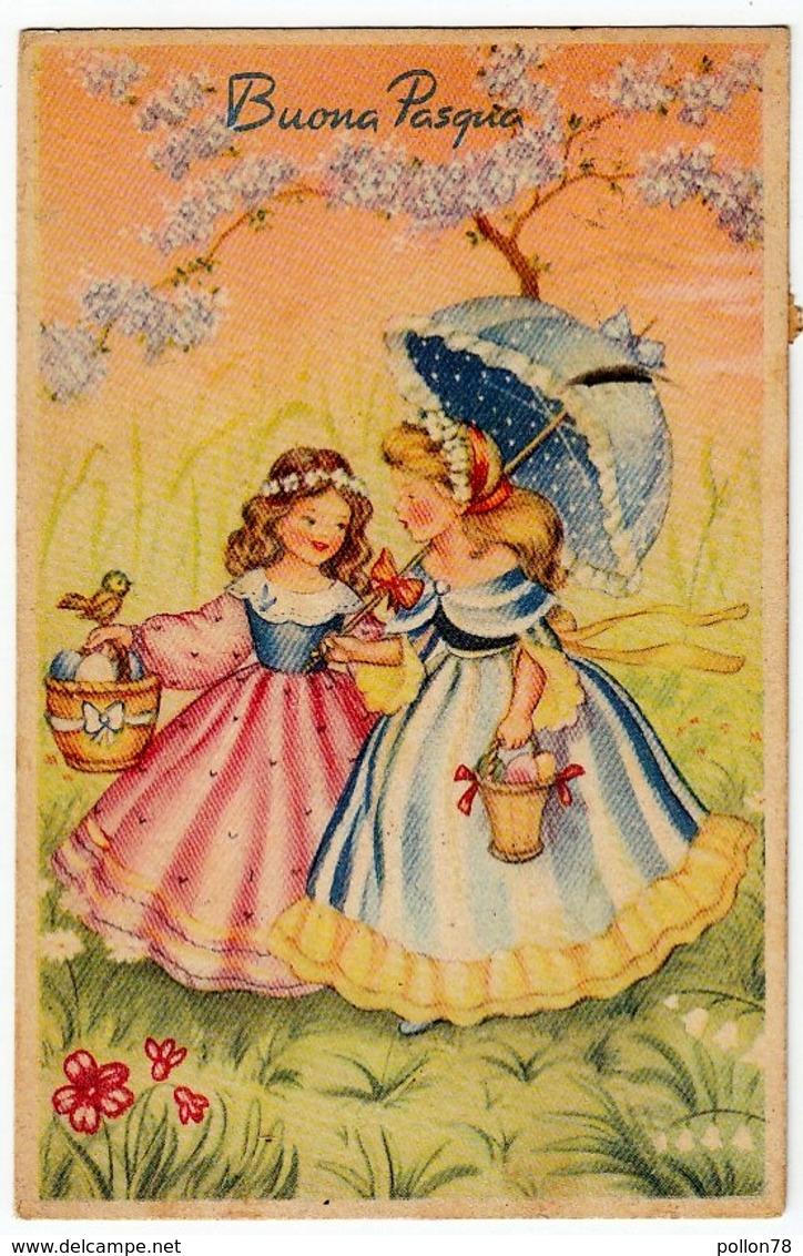 BUONA PASQUA - BAMBINE - 1957 - Formato Piccolo - Pasqua