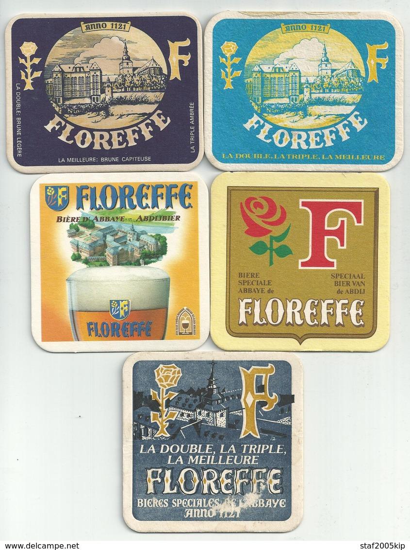 Bierviltjes - FLOREFFE - (5 Stuks) - Sous-bocks