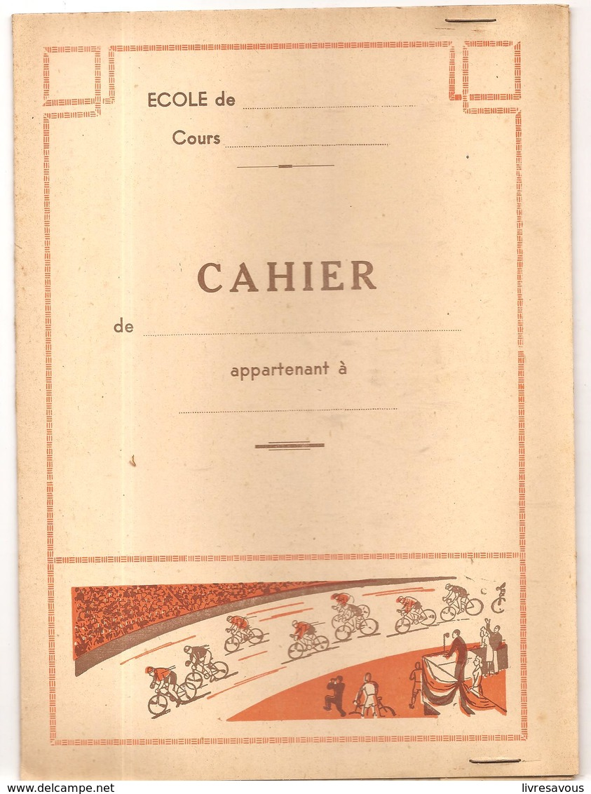 Protège Cahier Série Sport Cyclisme Avec Emploi Du Temps, Table De Multiplication Et Chiffres Romains - Protège-cahiers