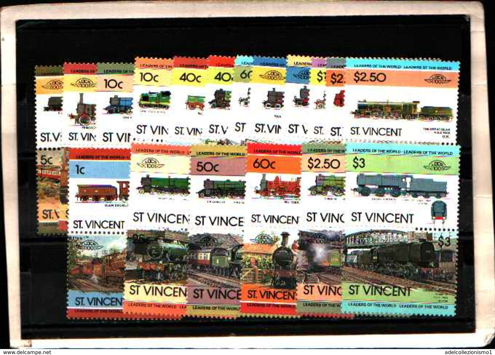 73316)  SAN VINCENT-LOTTO FRANCOBOLLI -MNH**-LOCOMOTIVE - St.Lucia (1979-...)