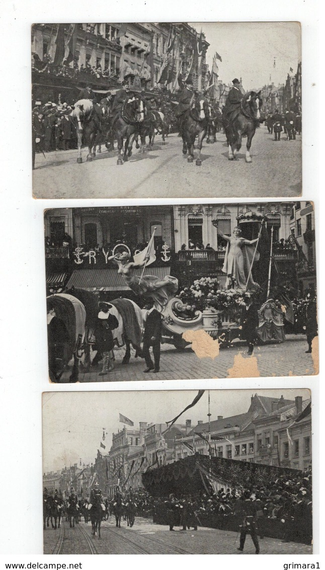 Antwerpen - Anvers : Cortège Colonial,6 Juin 1909 (12 Kaarten) - Cartes Postales