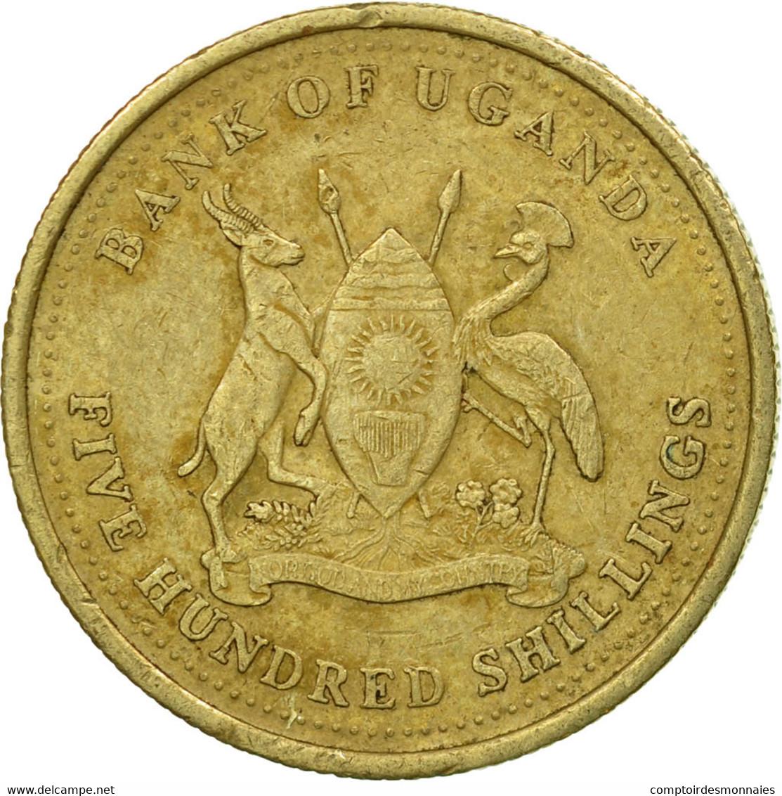 Monnaie, Uganda, 500 Shillings, 2003, Royal Canadian Mint, TTB, Nickel-brass - Ouganda