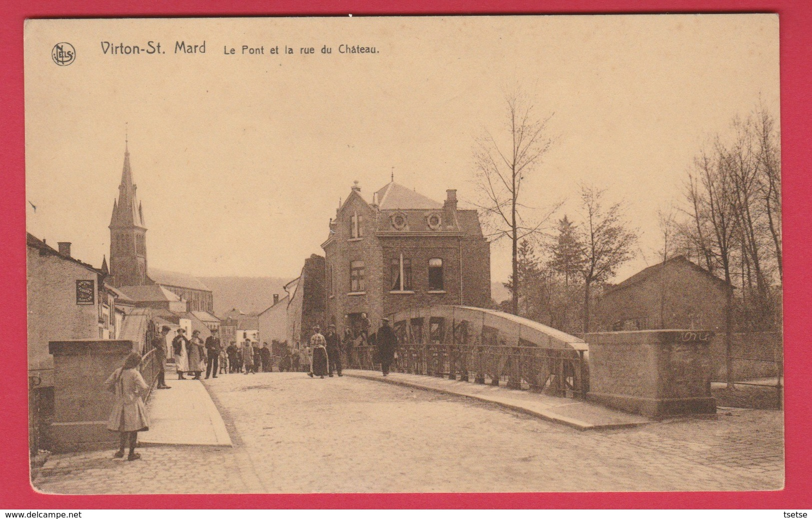 Saint-Mard - Le Pont Et La Rue Du Château ... Belle Animation ( Voir Verso ) - Virton