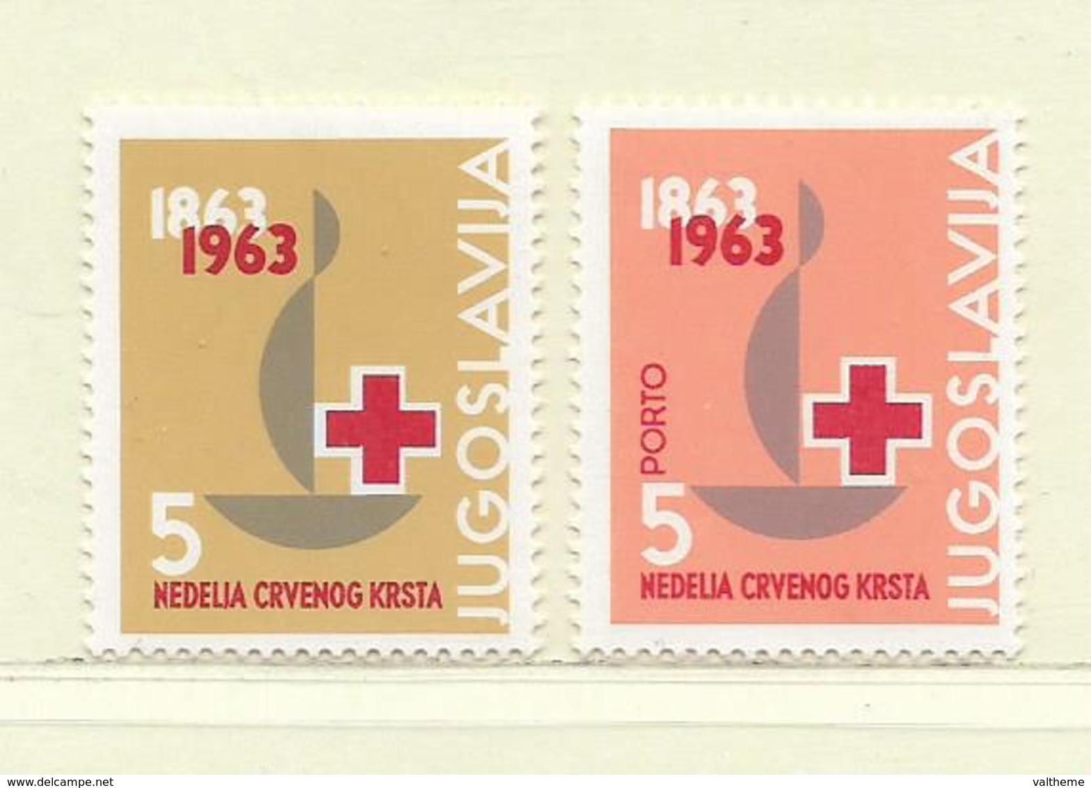 YOUGOSLAVIE  ( EU-194 )  1963  N° YVERT ET TELLIER  N° 51/52   N** - Beneficiencia (Sellos De)