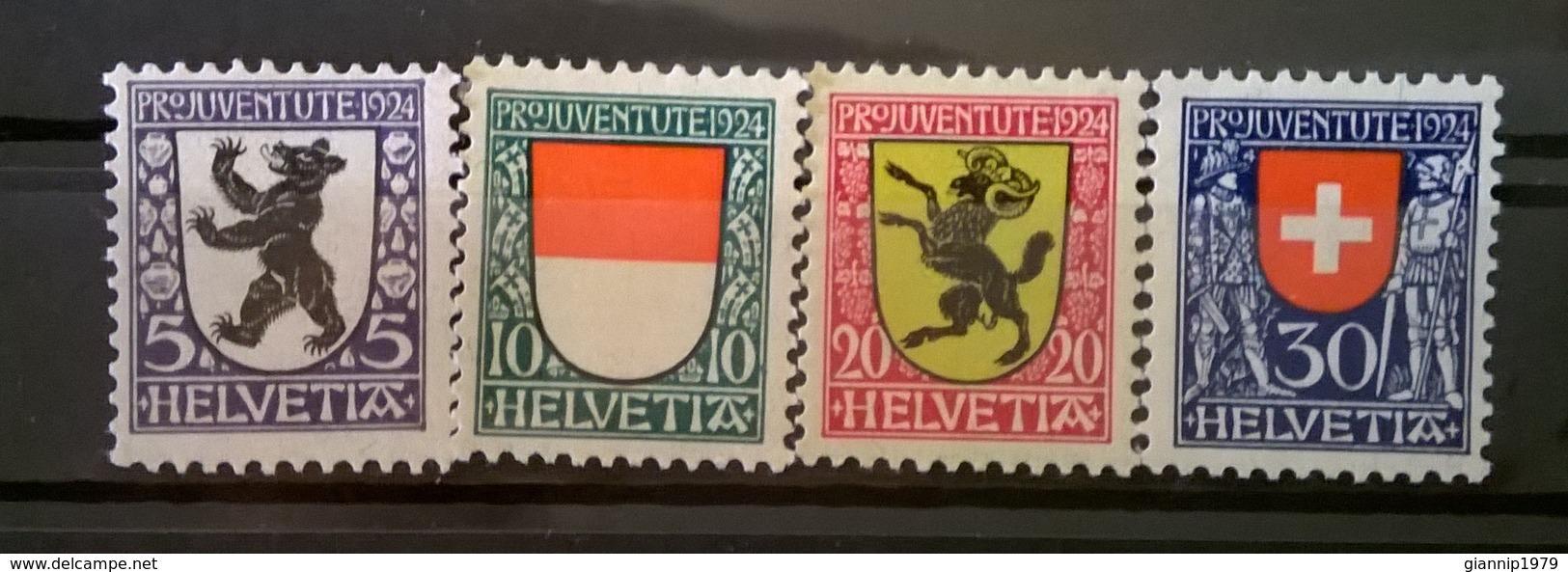 FRANCOBOLLI STAMPS SVIZZERA HELVETIA 1924 MNH** SERIE COMPLETA PRO JUVENTUTE - Svizzera