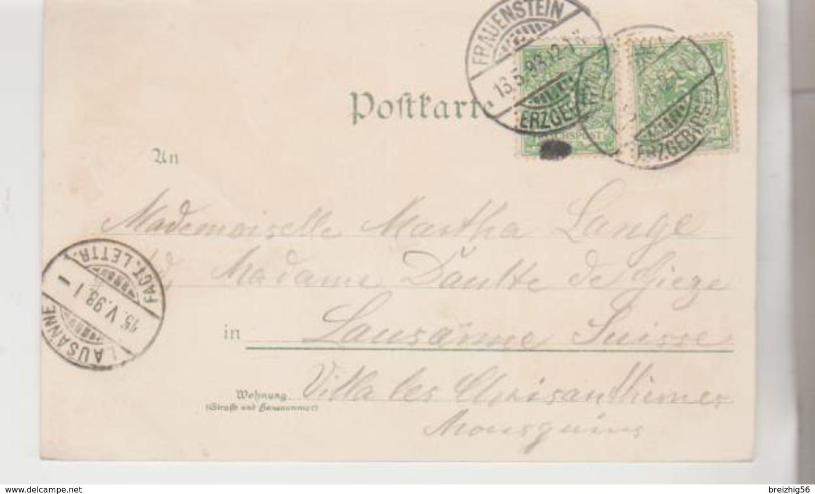 Allemagne Gruss Aus FRAUENSTEIN 1893 - Frauenstein (Erzgeb.)