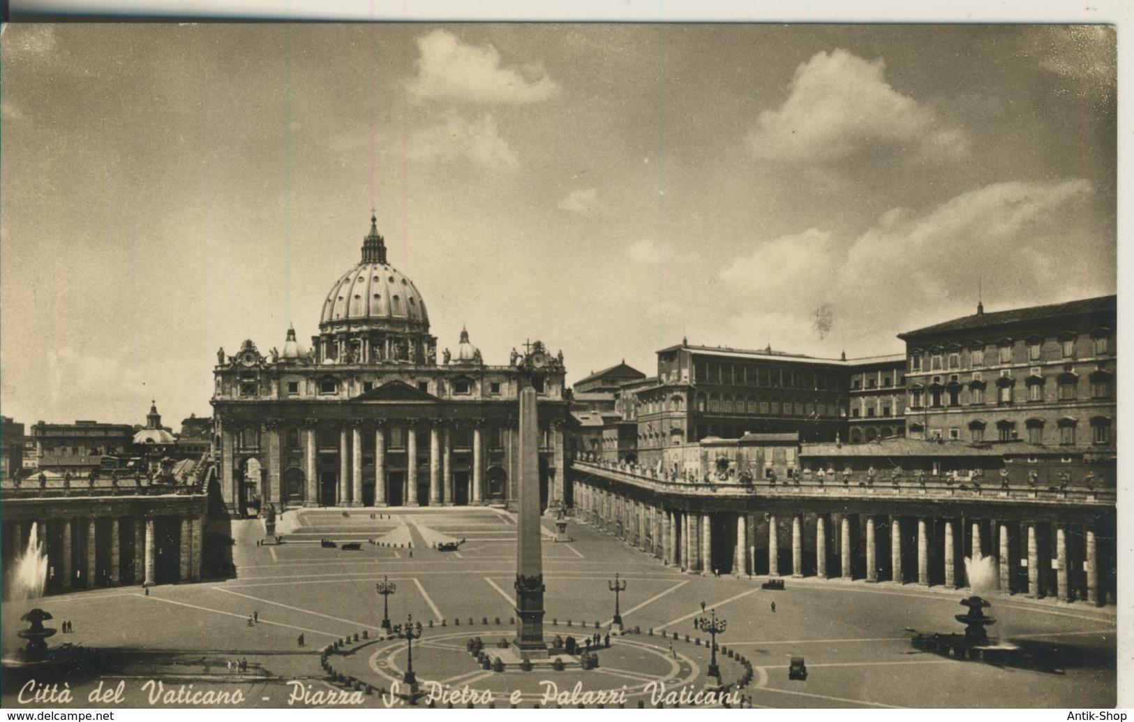Citta Del Vaticano -- Piazza S. Pietro E Palazzi Vaticani V. 1960   (2476) - Vatican