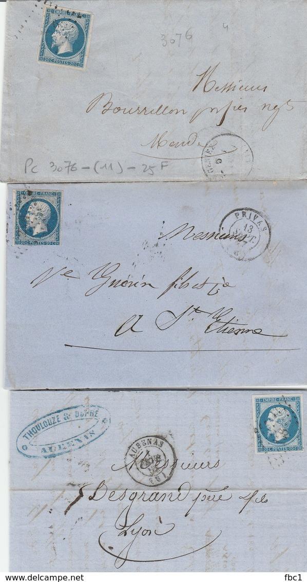 11 Lettres Avec N°14 Second Empire Napoléon III - France