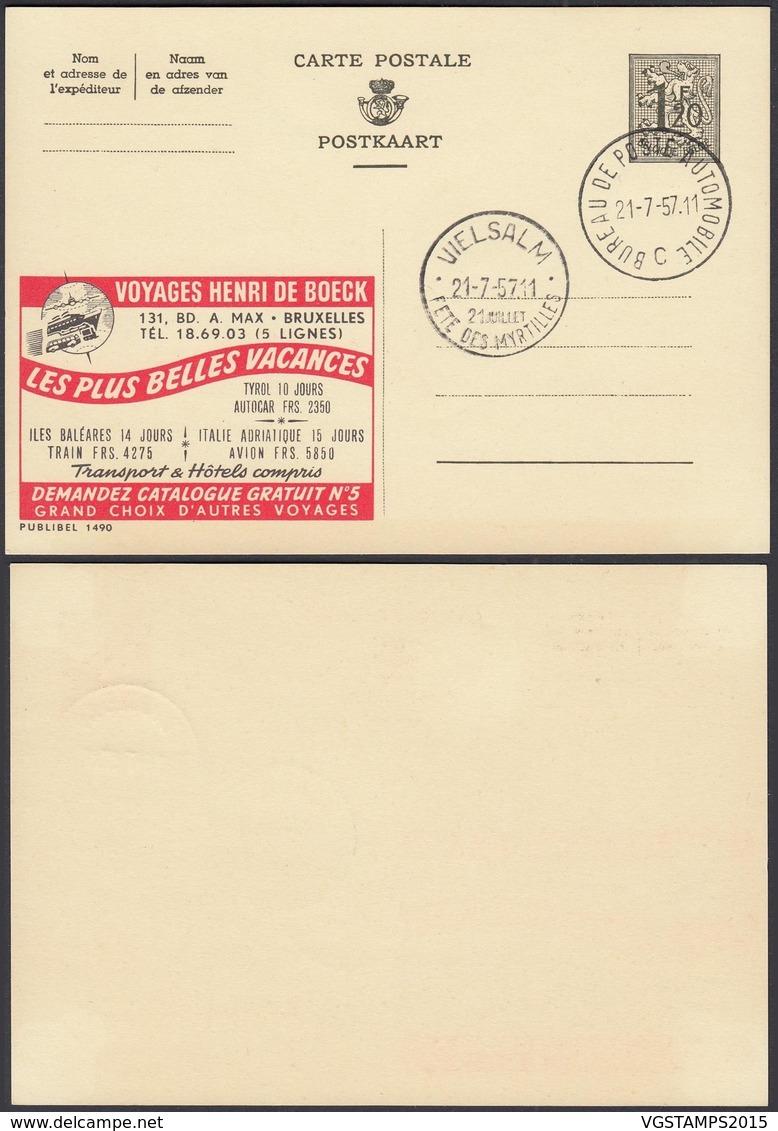 Publibel 1490 - 1F20 - Thématique Voyage, Bateau (DD) DC0534 - Stamped Stationery