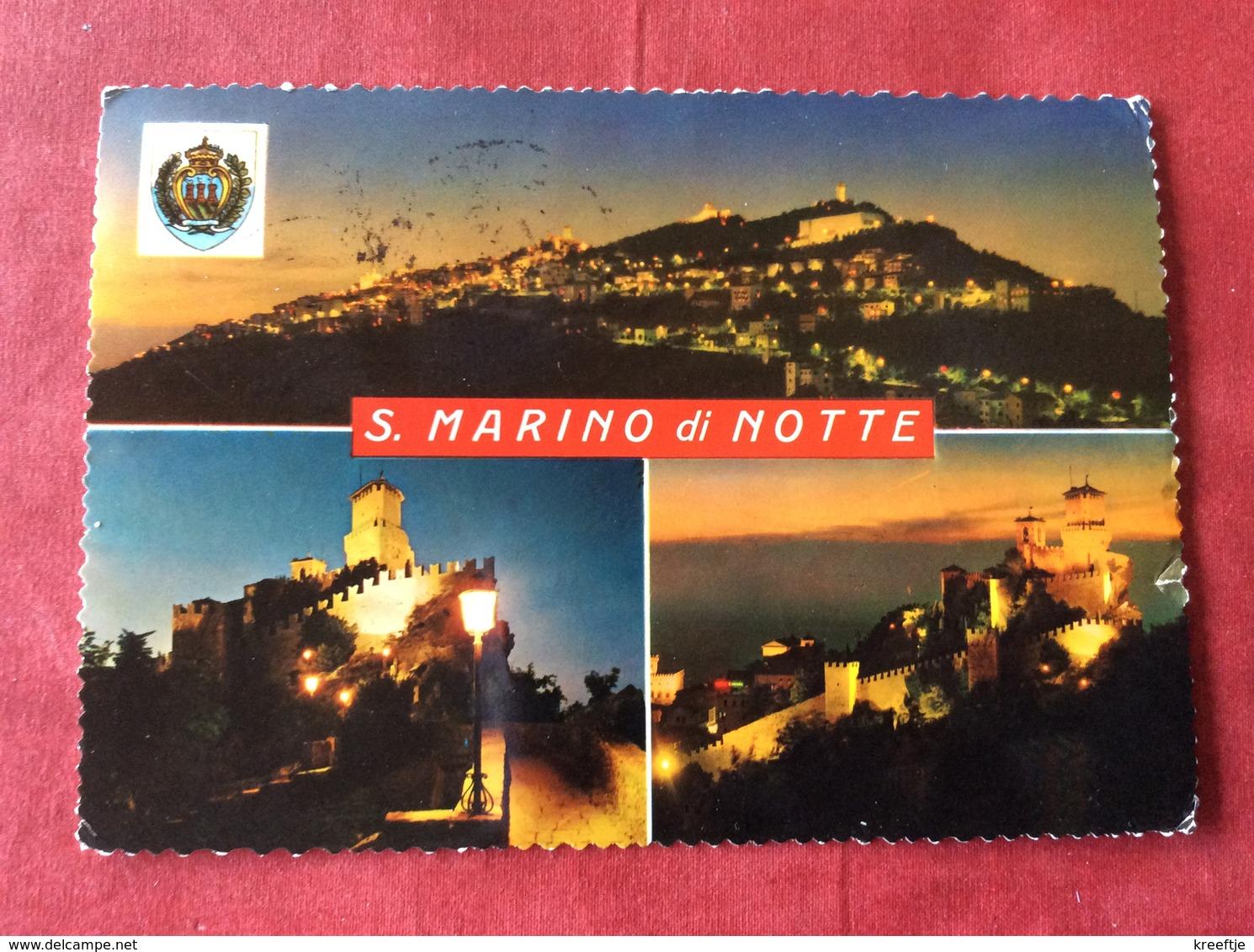 San Marino By Night (card A Little Bit Damaged) - San Marino